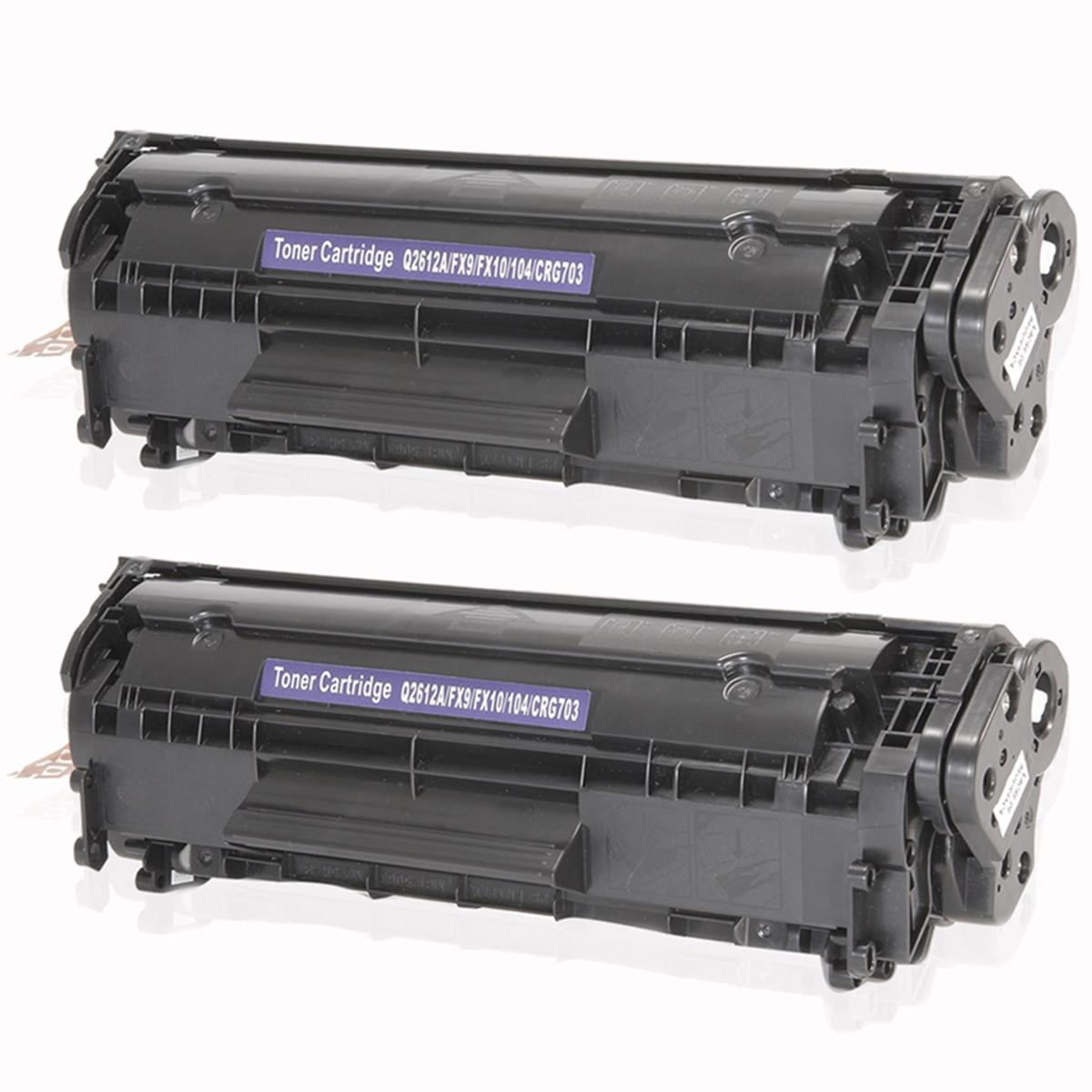 Kit 2 Toner Compatível com HP Q2612A 2612A 12A | 1010 1012 1015 1018 1020 1022 3015 | Premium 2k