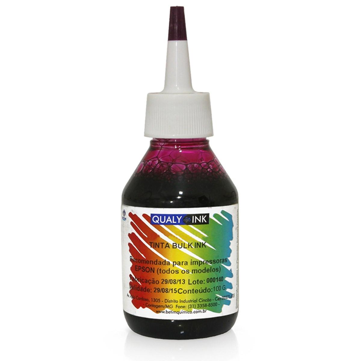 Tinta Epson Corante Magenta Claro Específico Linha L   Com Bico Aplicador LMC3E-1527 Qualy Ink 100g