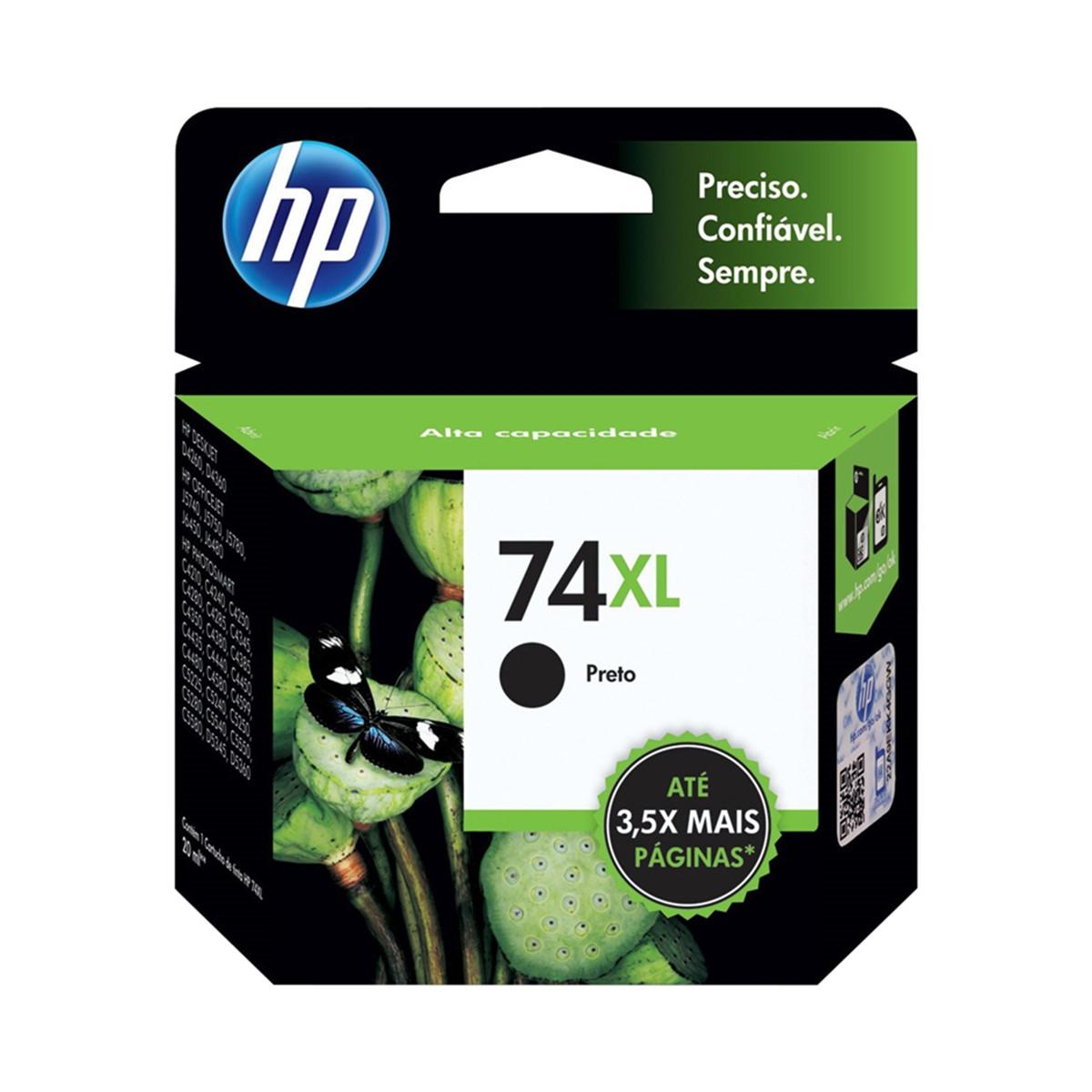 Cartucho de Tinta HP 74XL CB336WB Preto | Photosmart C4480 C4280 C5280 | Original 20ml