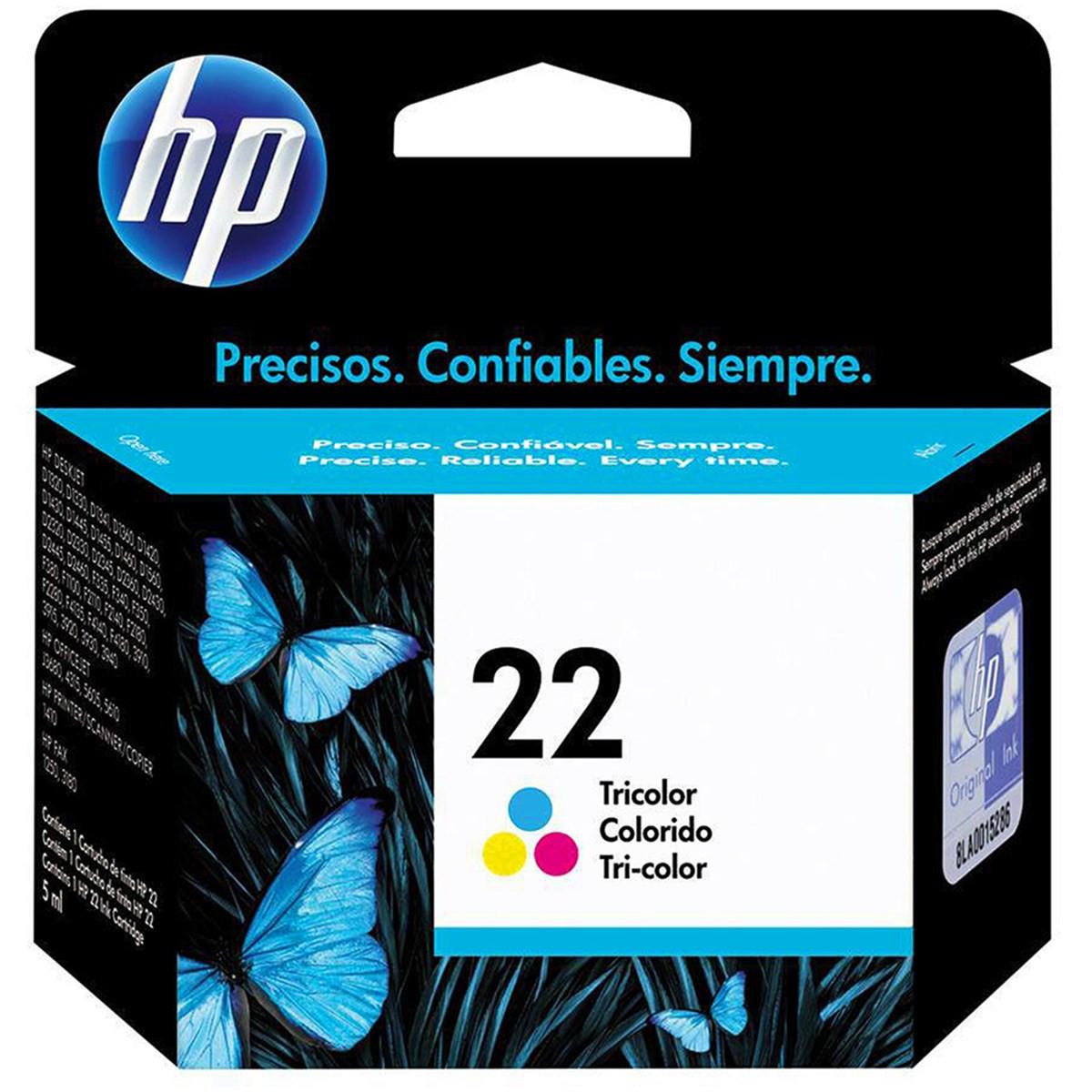 Cartucho de Tinta HP 22 | C9352AB | Color | ORIGINAL HP | 6 ml
