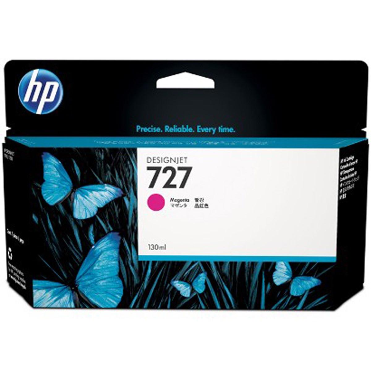Cartucho de Tinta para Plotter HP 727 B3P20A Magenta | Designjet T1500 T920 T1530 | Original 130ml