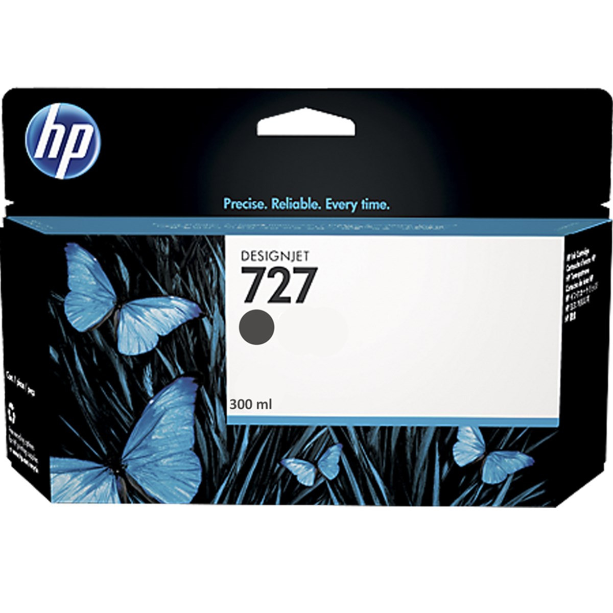 Cartucho de Tinta para Plotter HP 727 C1Q12A Preto Fosco | T2500 T1500 T920 T1530 | Original 300ml