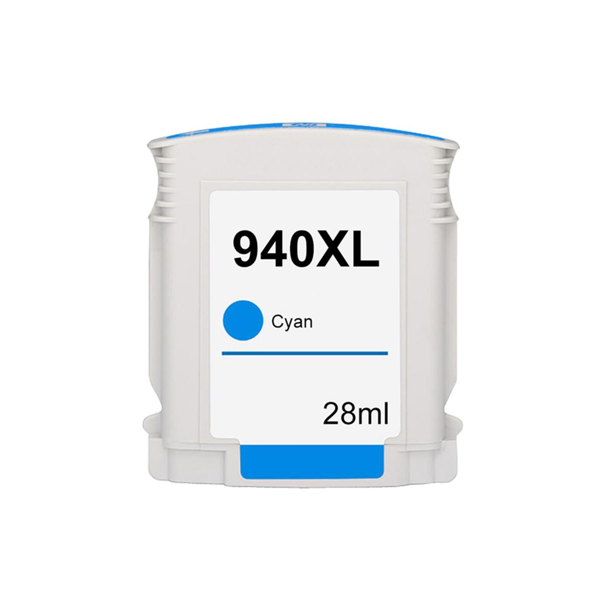 Cartucho de Tinta Compatível com HP 940XL 940 C4907AL C4907AB Ciano | 8500 8000 8000WL 8500W 28ml