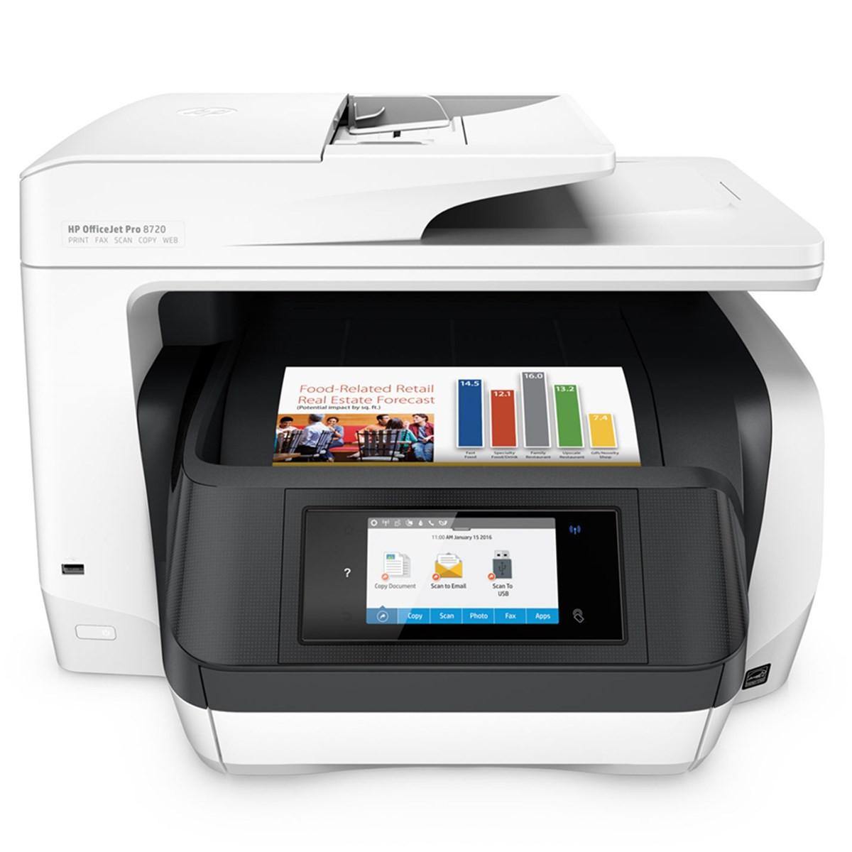 Impressora HP OfficeJet Pro 8720 D9L19A Multifuncional com Wireless