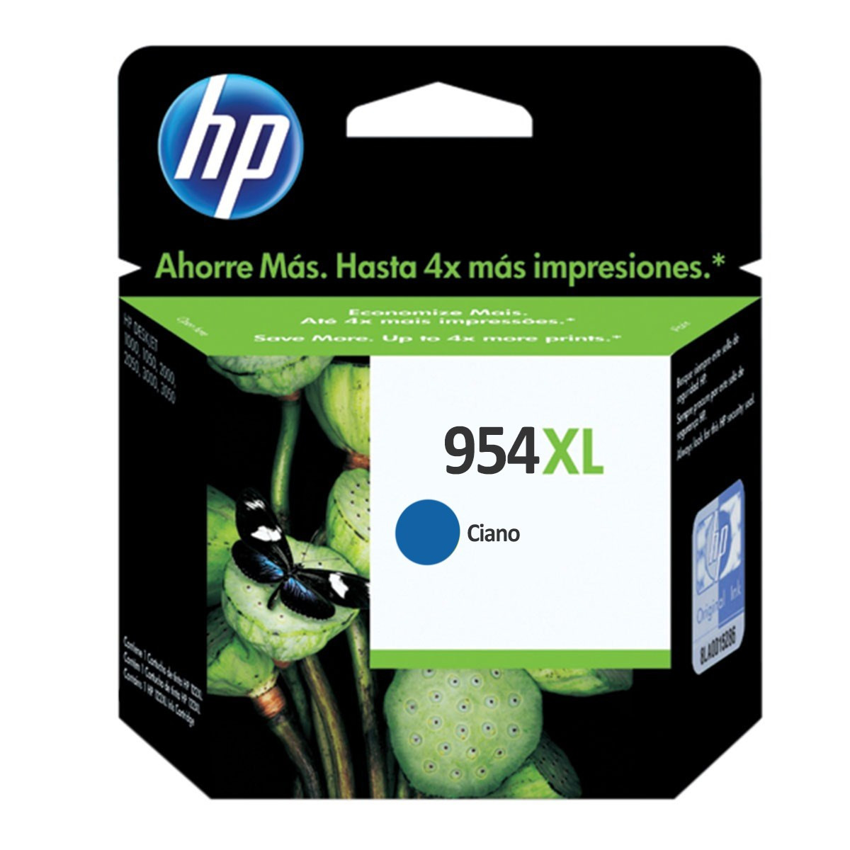 Cartucho de Tinta HP 954XL L0S62AB Ciano | 8700 8710 8715 8720 8716 8725 8210 8740 | Original 20ml