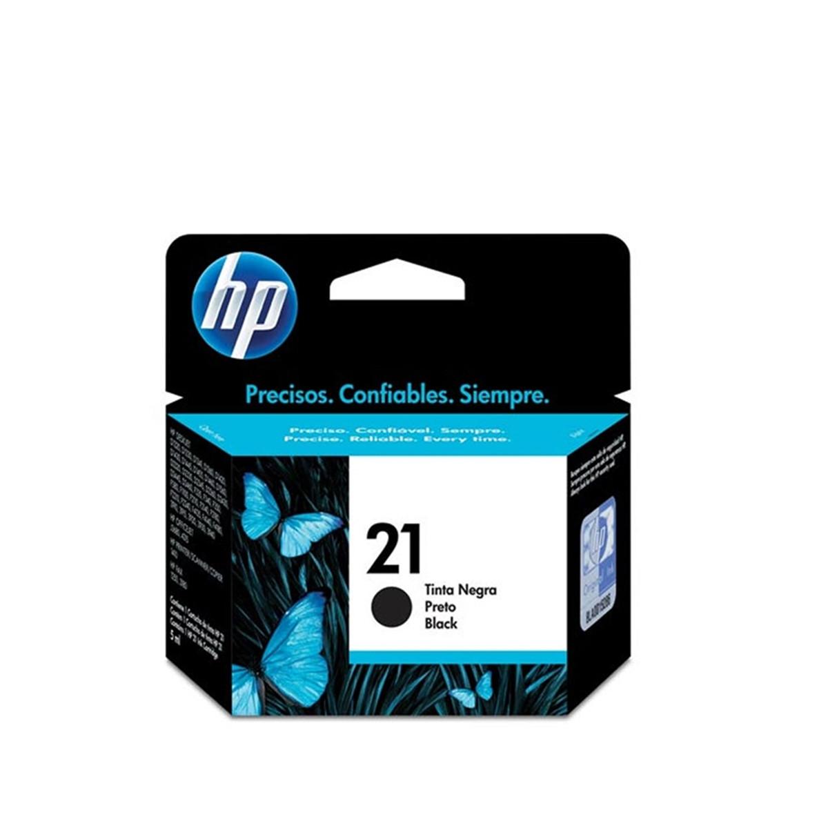 Cartucho de Tinta HP 21 | C9351A, C9351AB | Preto | Original HP | 7ml