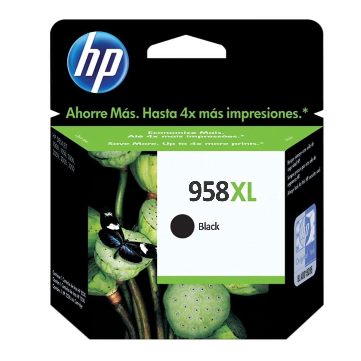 Cartucho de Tinta HP 958XL Preto L0R41AB | Officejet Pro 8720 8210 8725 8740 P27724DW | Original