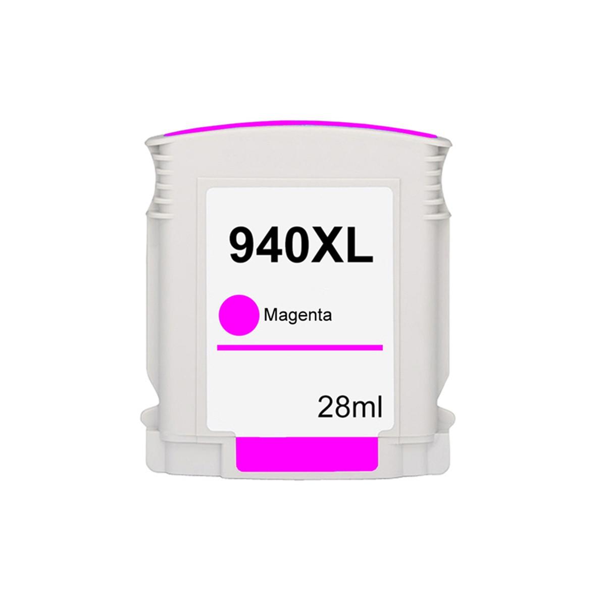 Cartucho de Tinta Compatível com HP 940XL C4908AB Magenta | Deskjet 8000 8500 8000WL 8500W 28ml