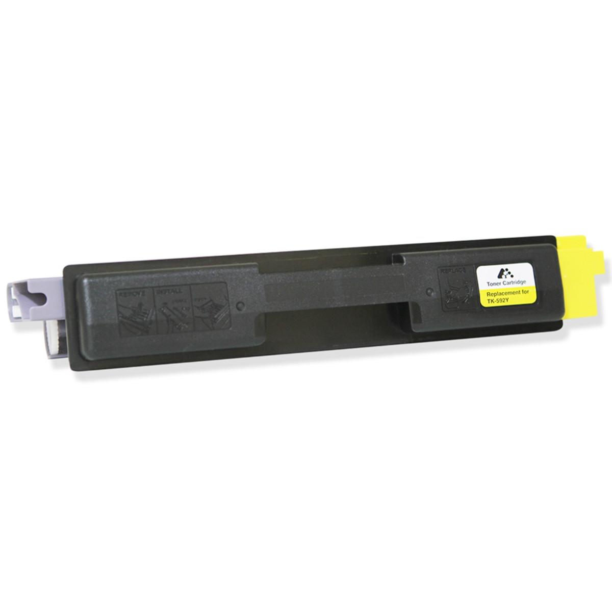 Toner Kyocera TK-592Y Amarelo | FS C2026MFP FS C2526MFP | Com Chip | Katun Performance 5k