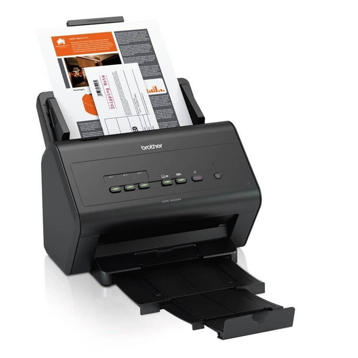 Scanner Brother ADS-3000N   Conexão Ethermet Até Tamanho A4 ADF para 50 Folhas com Duplex