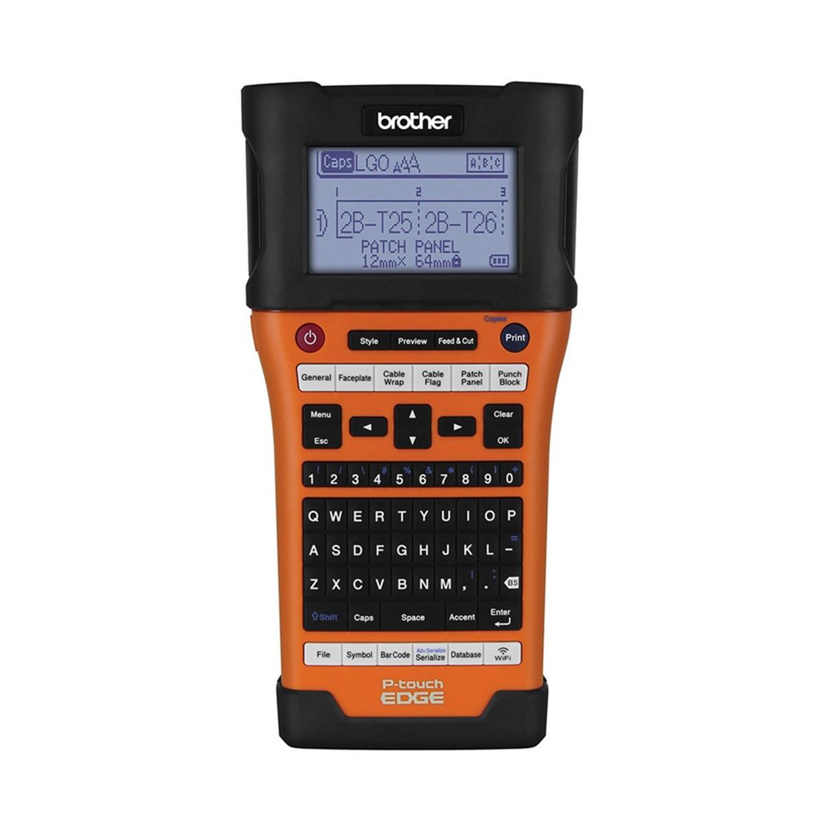 Rotulador Brother Eletrônico Portátil PT-E550W PT-E550WVP Laranja/Preto