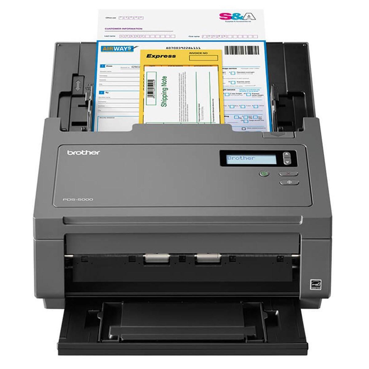 Scanner Brother PDS-5000 PDS5000 | Conexão USB Até Tamanho A4 ADF para 100 Folhas