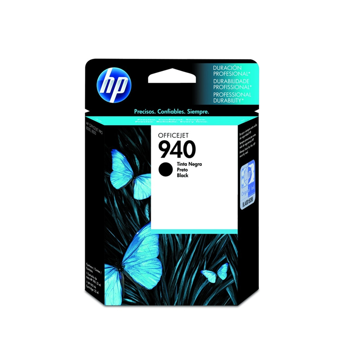 Cartucho de Tinta HP 940 | C4902AL | C4902AB Preto | Officejet 8000 8500 | Original 28 ml