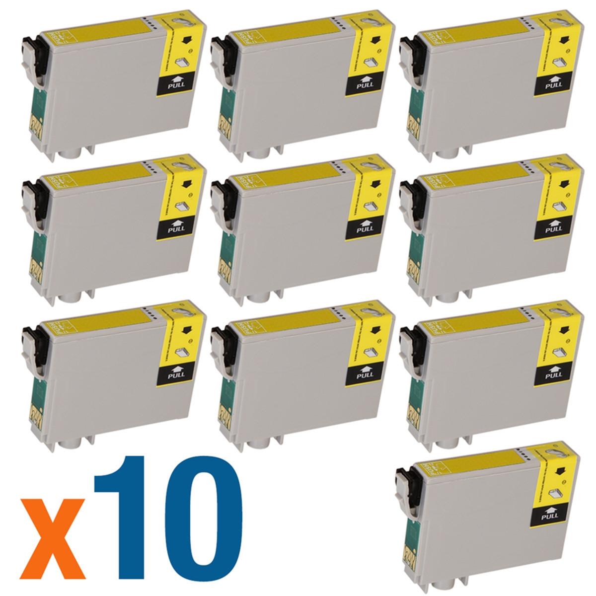 Kit 10 Cartucho de Tinta Compatível com Epson T063 T063420 Amarelo C67 C87 CX3700 CX7700 12 ml