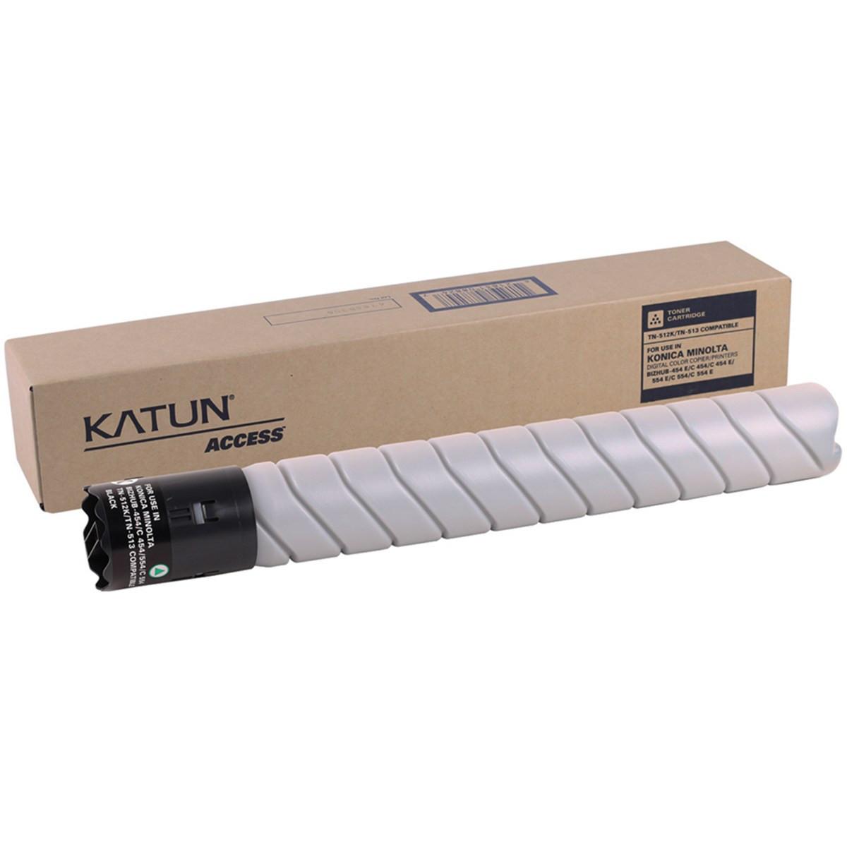 Toner Konica Minolta TN-324K TN512K Preto   Bizhub C454 C554 C258 C308 C368   Katun Access 544g