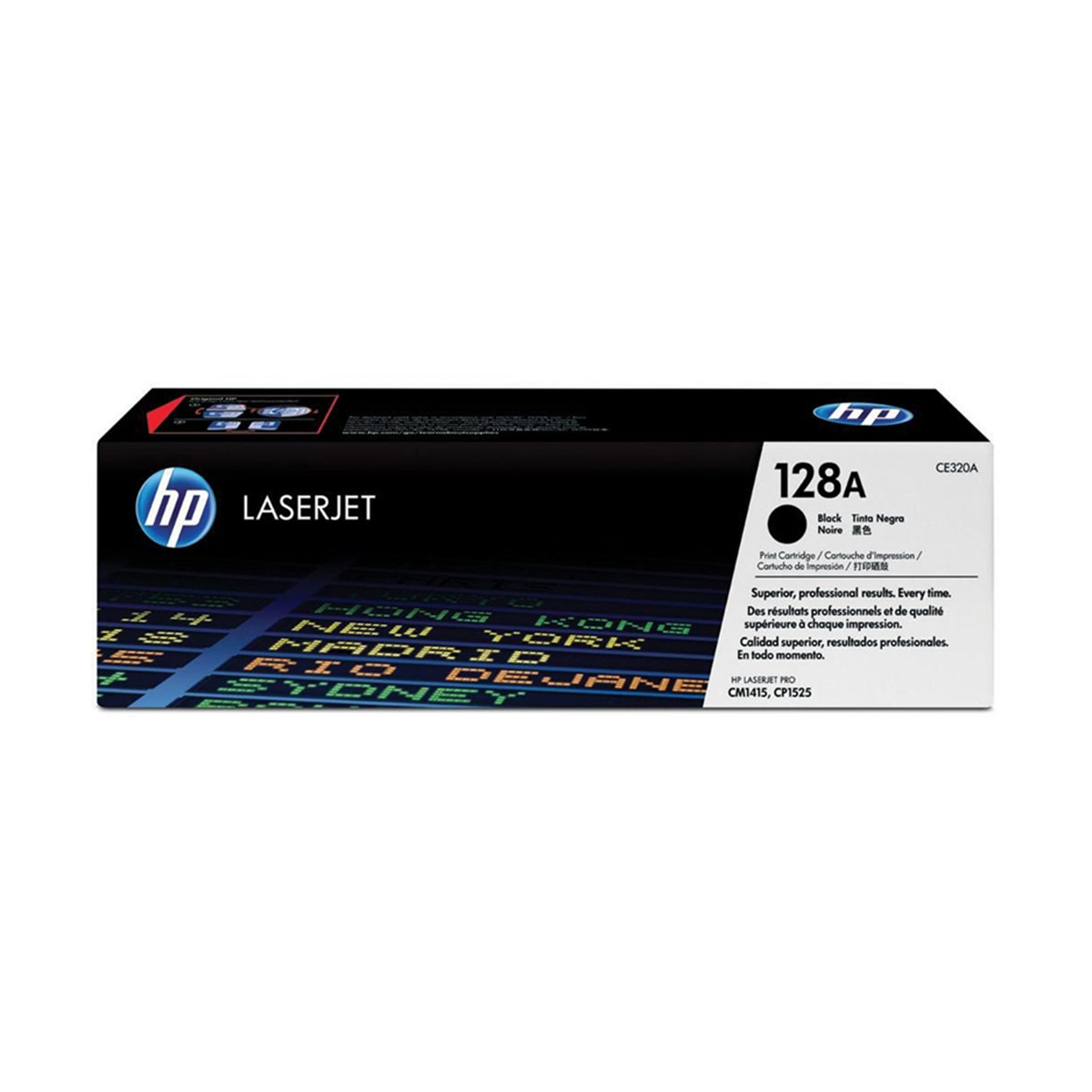 Toner HP CE320A CE320AB 128A Preto | CM1415FN CM1415FNW CP1525NW | Original 2k