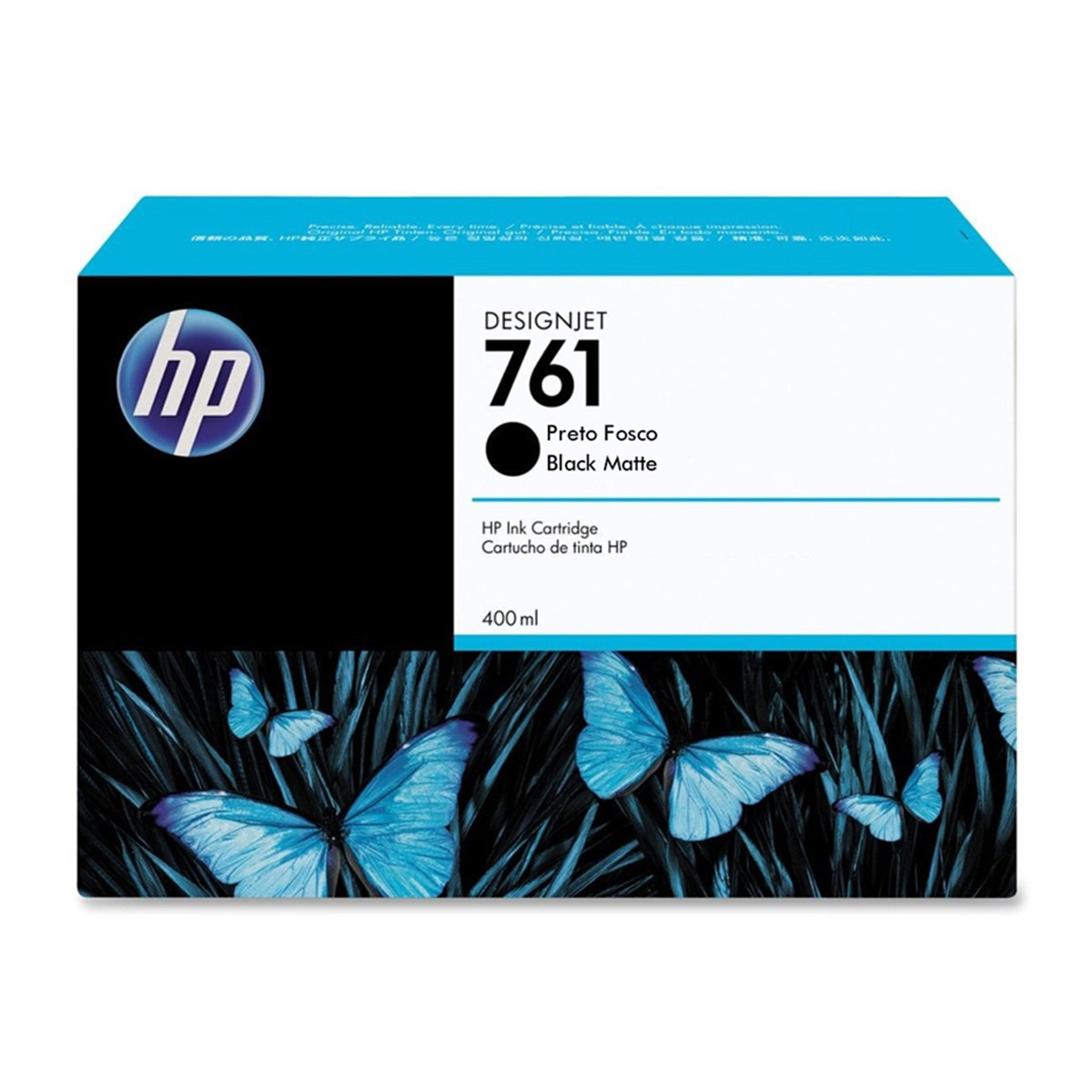 Cartucho de Tinta HP 761 Preto Fosco CM991A | T7100 T7200 | Original 400ml