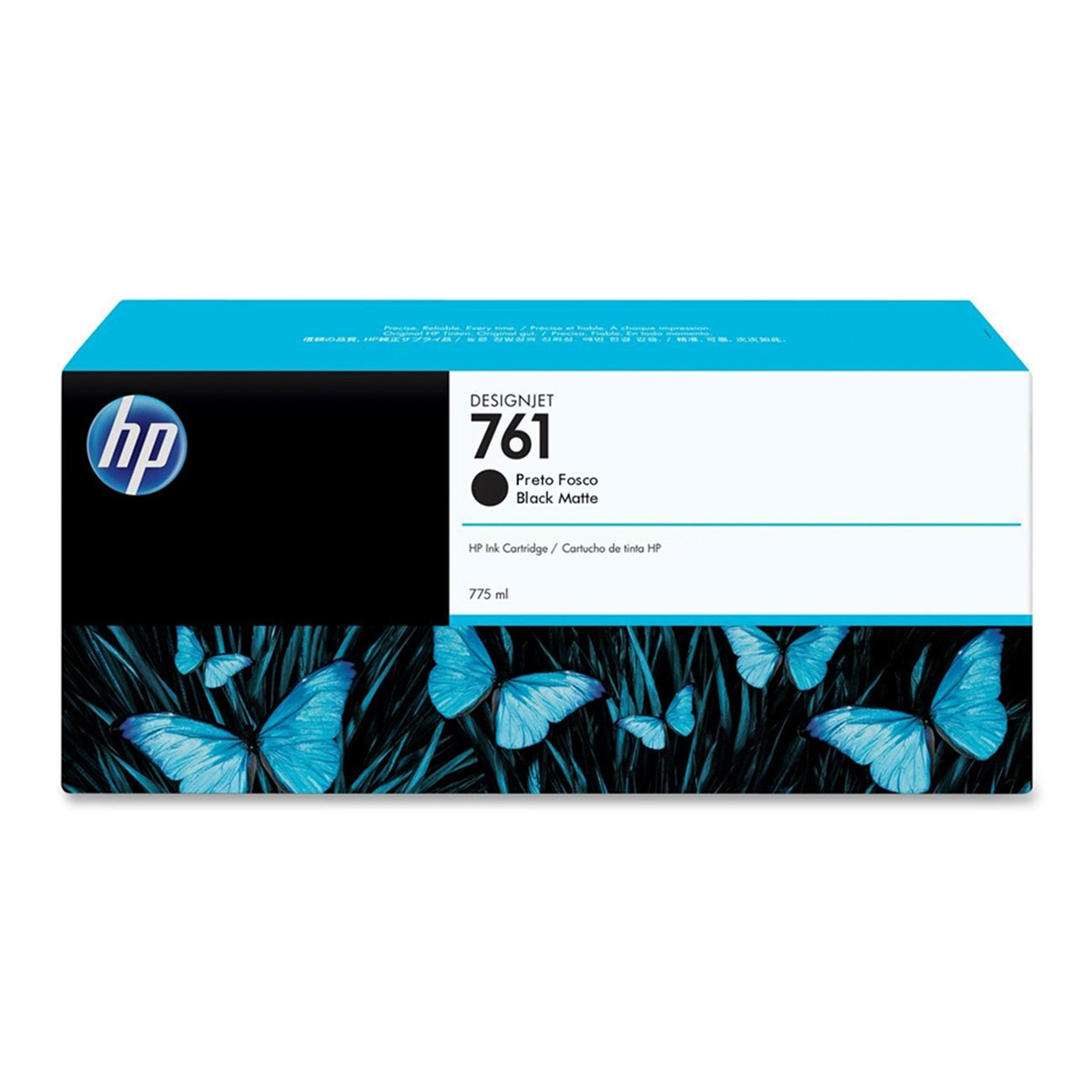 Cartucho de Tinta HP 761 Preto Fosco CM997A | T7100 T7200 | Original 775ml