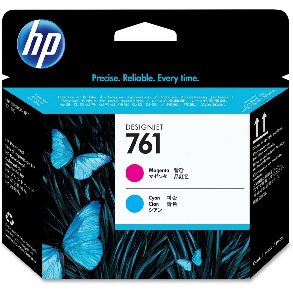 Cabeça de Impressão HP 761 Magenta e Ciano CH646A | T7100 T7200 CQ105A F2L46A | Original