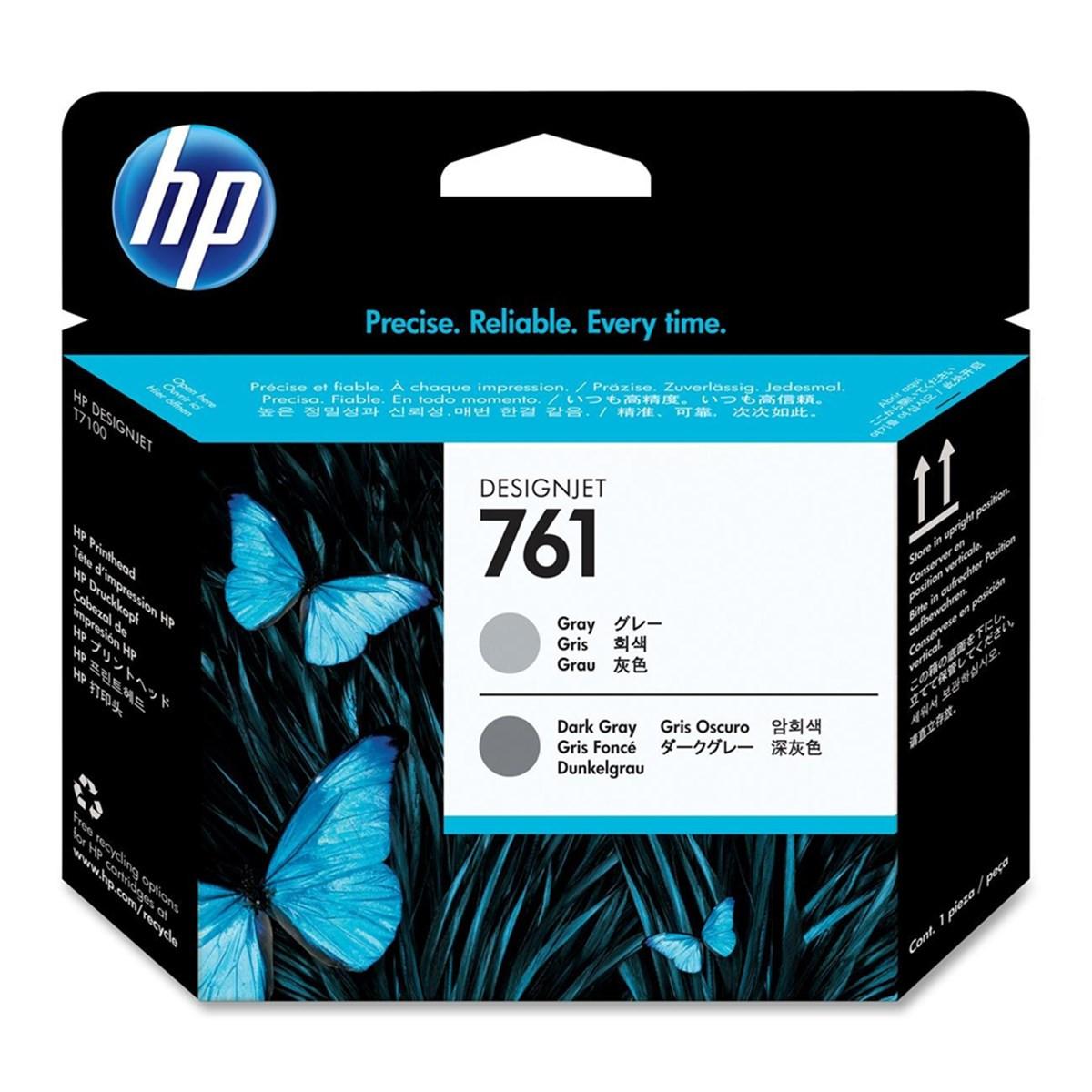 Cabeça de Impressão HP 761 Cinza e Cinza Escuro CH647A | T7100 T7200 CQ105A F2L46A | Original