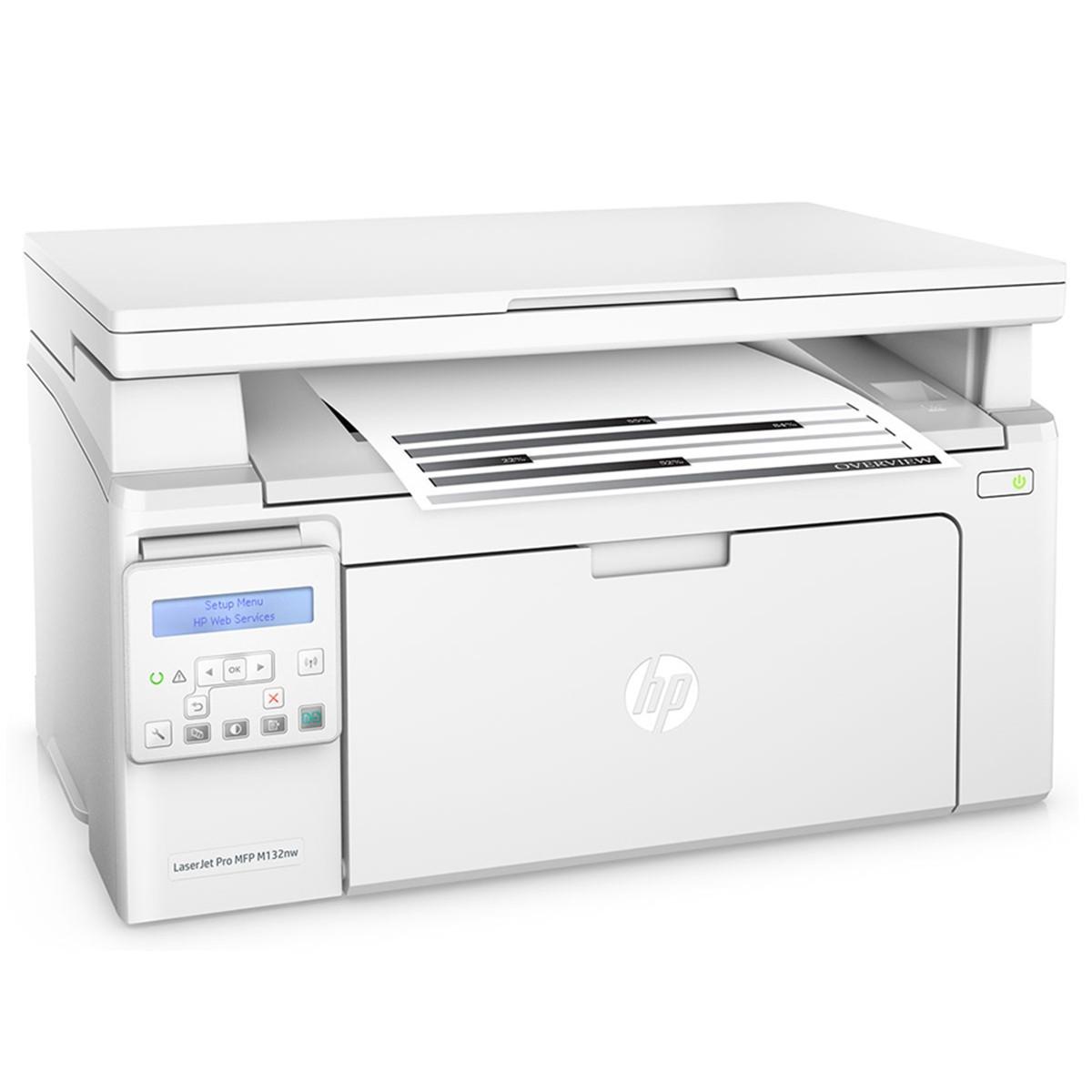 Impressora HP LaserJet M132NW G3Q62A Multifuncional com Wireless