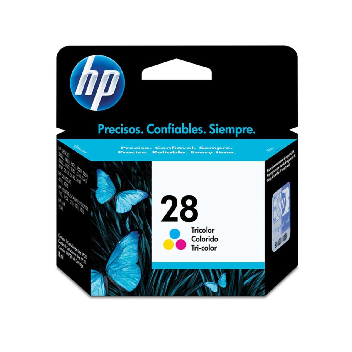 Cartucho de Tinta HP 28 | C8728AB | Color | Original HP | 8ml