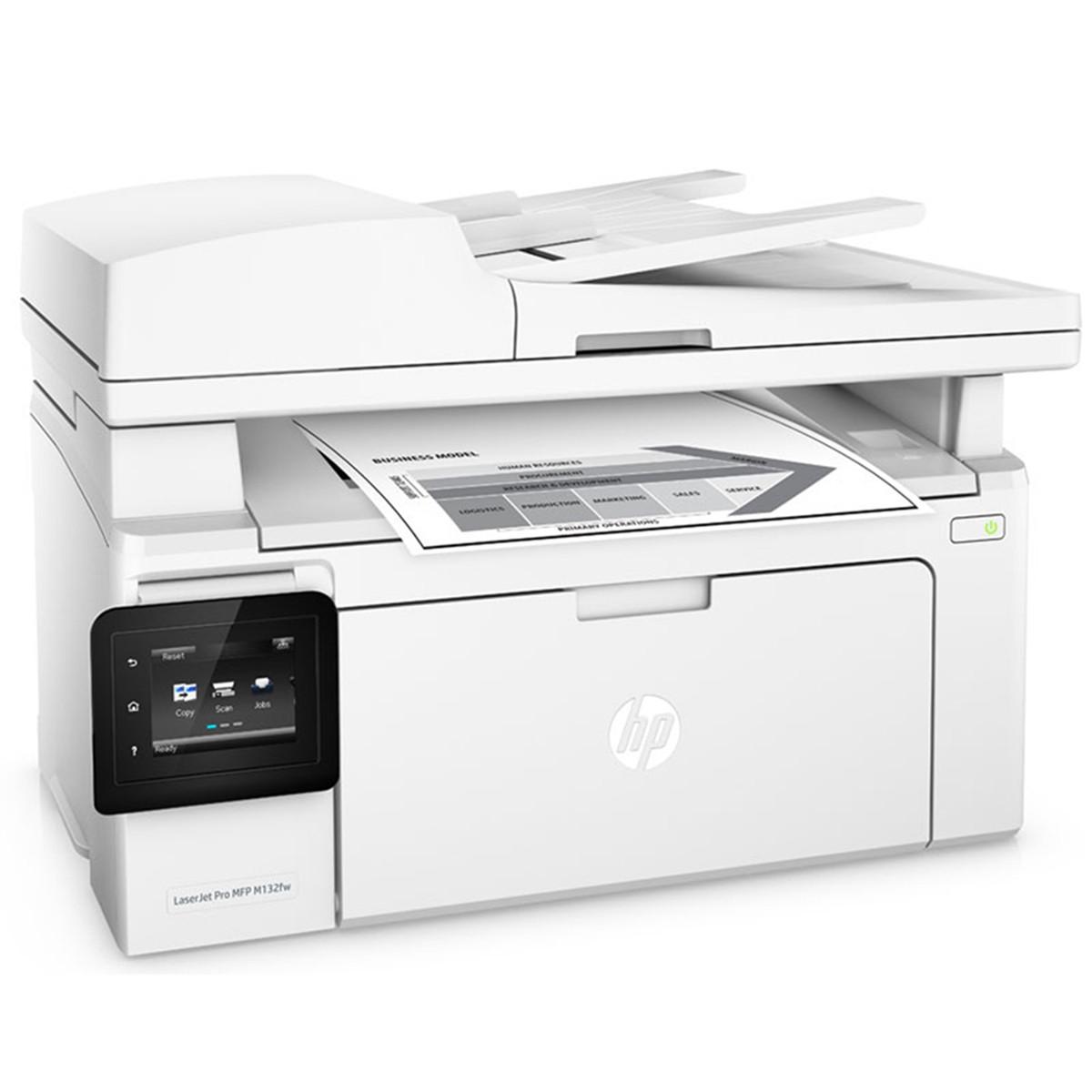 Impressora HP LaserJet M132FW G3Q65A Multifuncional Laser com Wireless e ADF