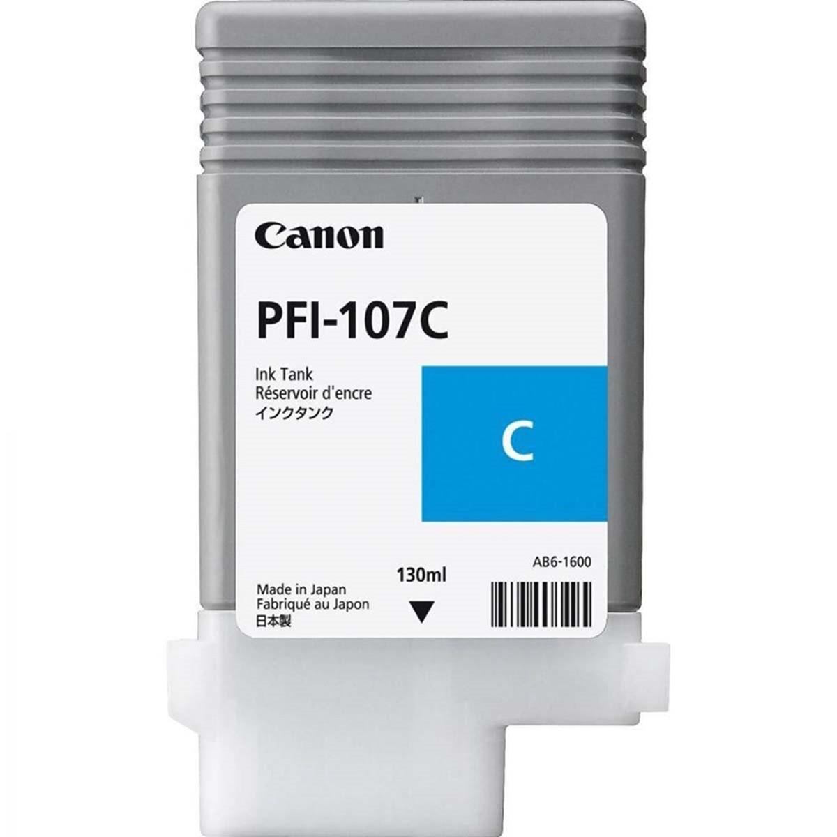 Cartucho de Tinta Canon PFI-107 PFI-107C Ciano | Original 130ml