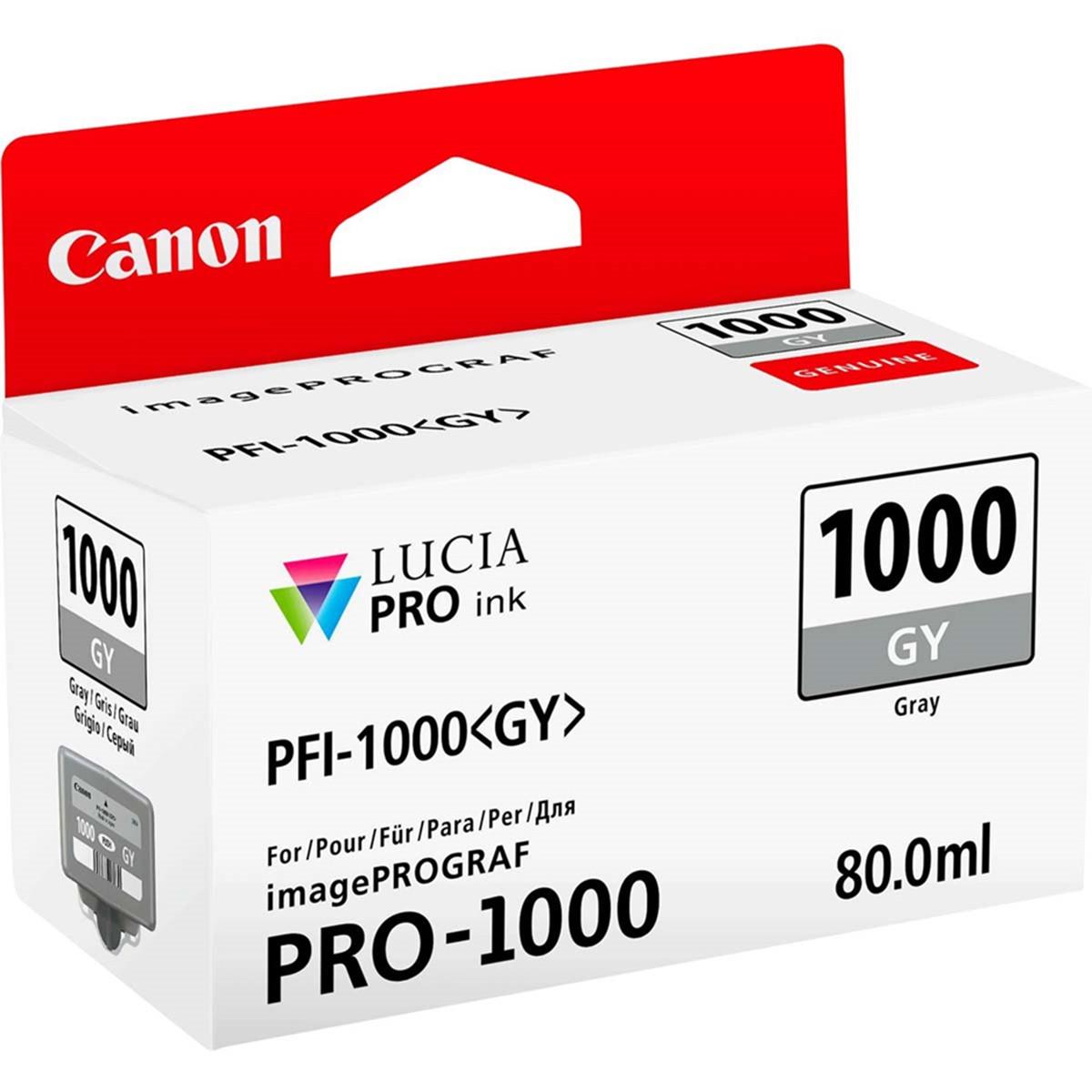 Cartucho de Tinta Canon PFI-1000 PFI-1000GY Cinza | Original 80ml