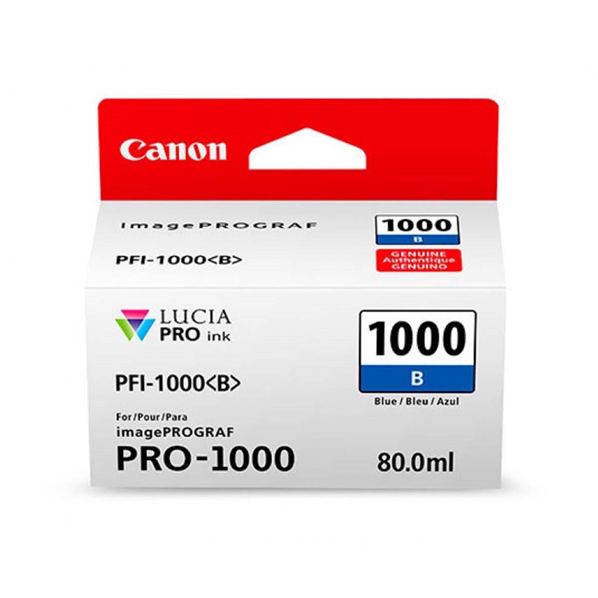 Cartucho de Tinta Canon PFI-1000 PFI-1000B Azul | Original 80ml