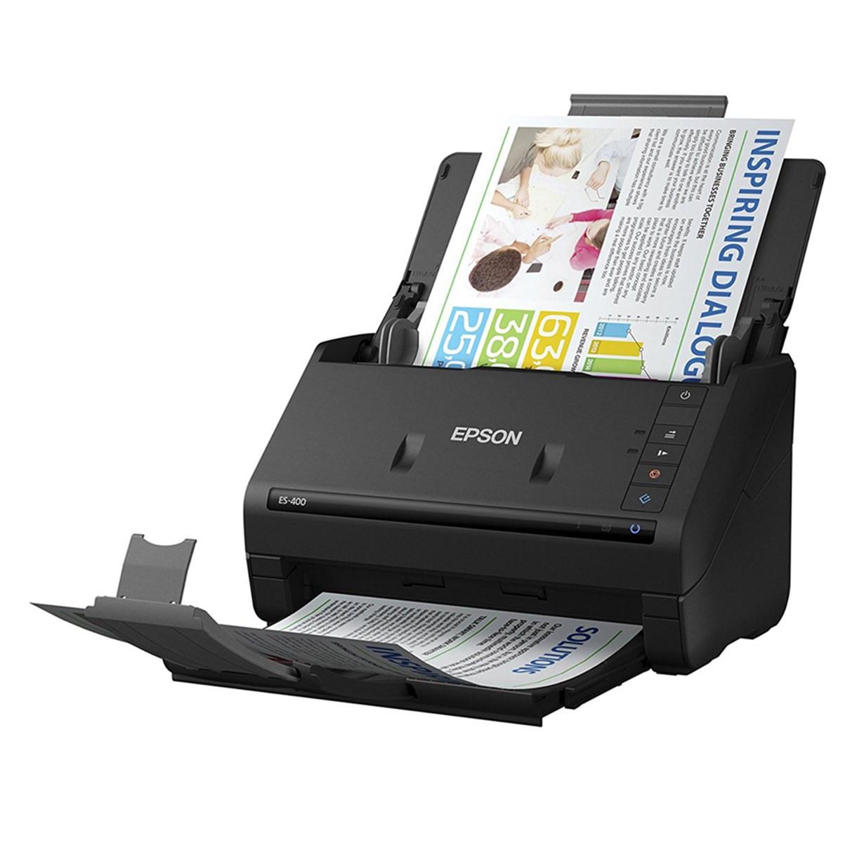 Scanner Epson WorkForce ES-400 ES400 | Conexão USB Até Tamanho A4 ADF para 50 Folhas com Duplex