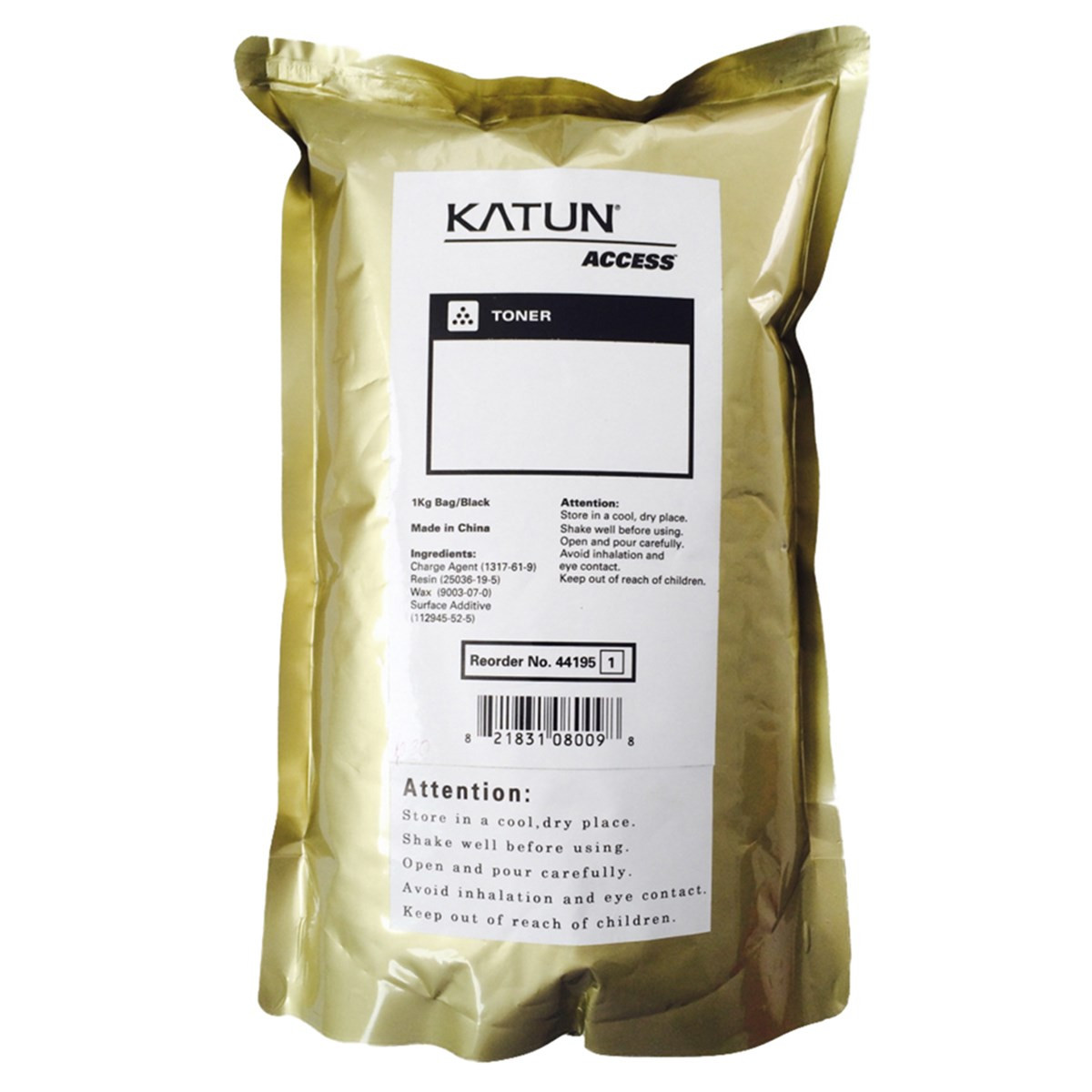 Toner em Bag Ricoh Aficio 1060 1075 841332 885400 Type 6110D 6210D | Katun Access 1kg