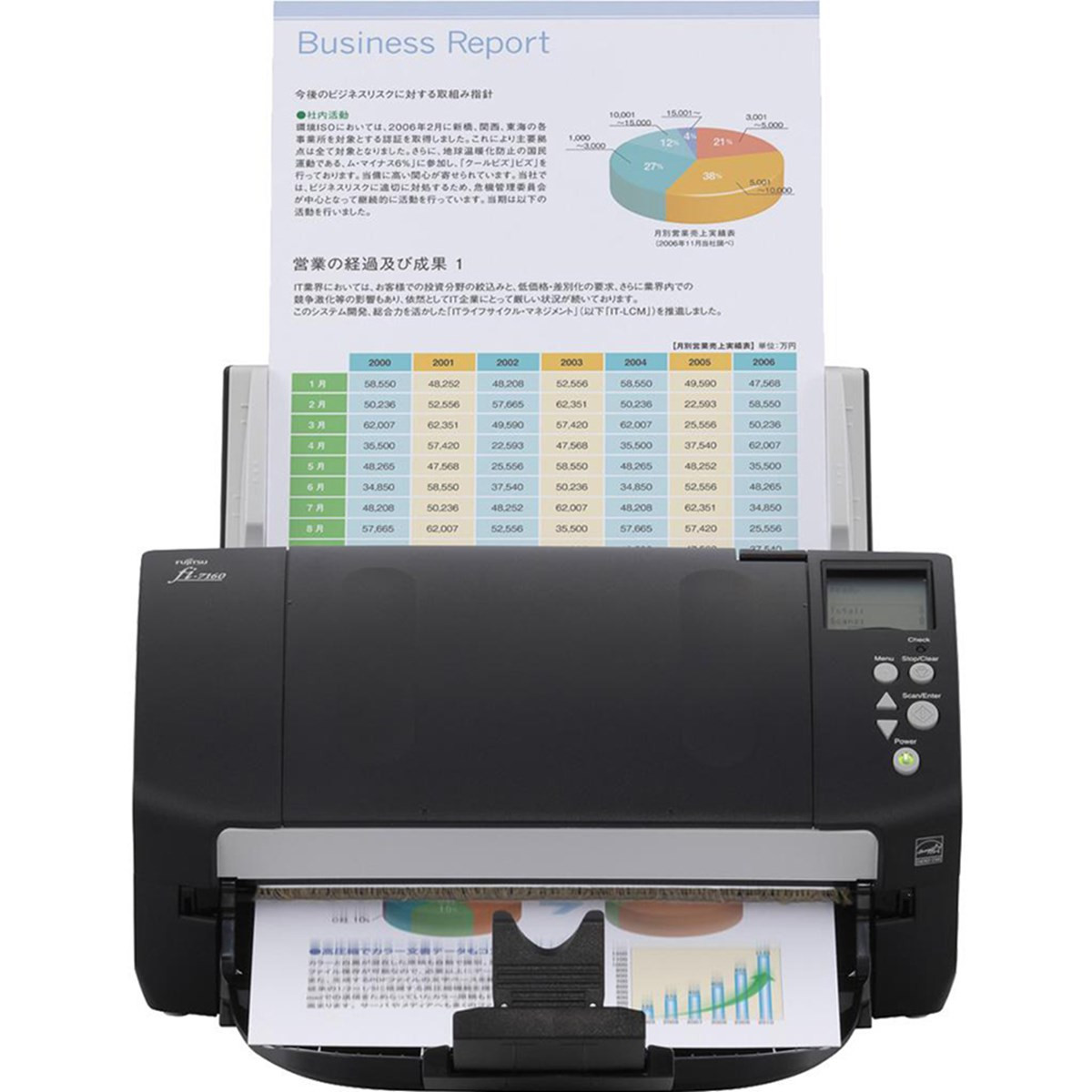 Scanner Fujitsu FI-7160 FI7160 | Conexão USB Até Tamanho Ofício ADF para 80 Folhas com Duplex