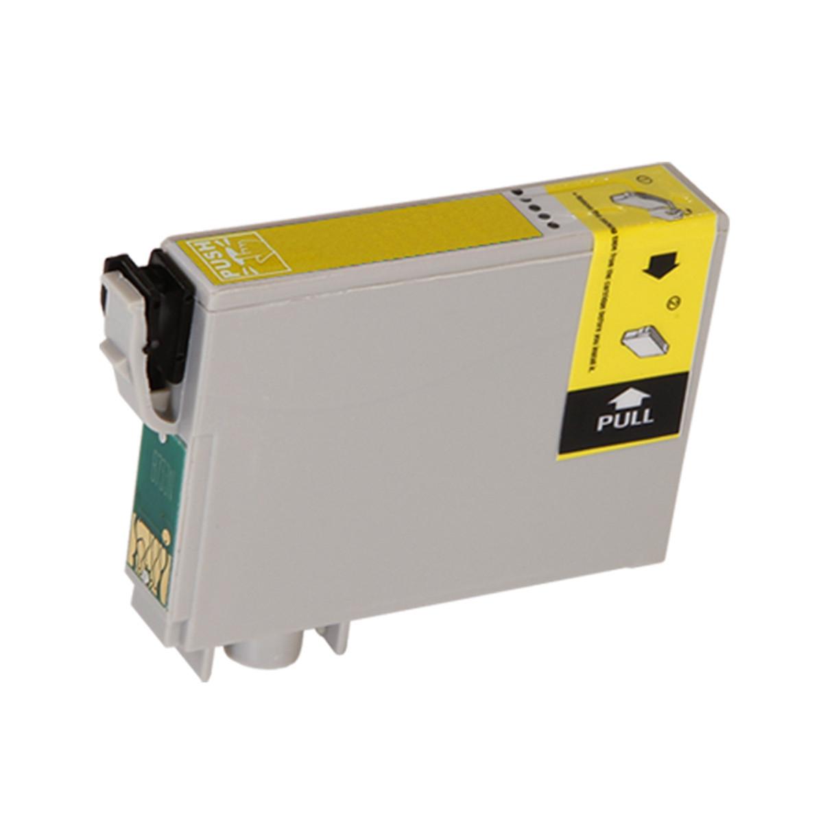 Cartucho de Tinta Compatível com Epson T082420 T082 T0824 Amarelo | RX590 R290 R390 R270 T50 | 12ml