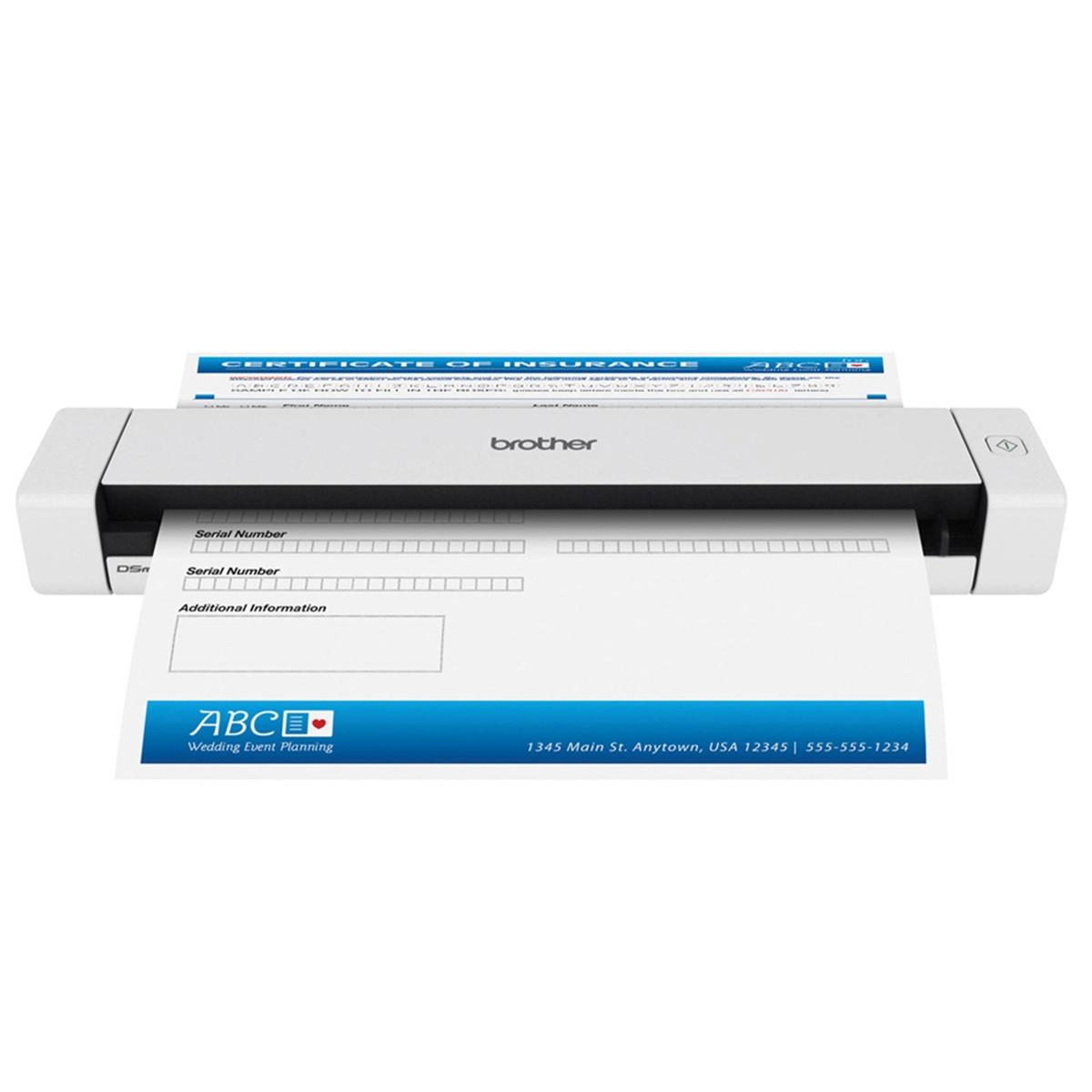 Scanner Brother DS-620 Portátil Conexão USB Até Tamanho A4