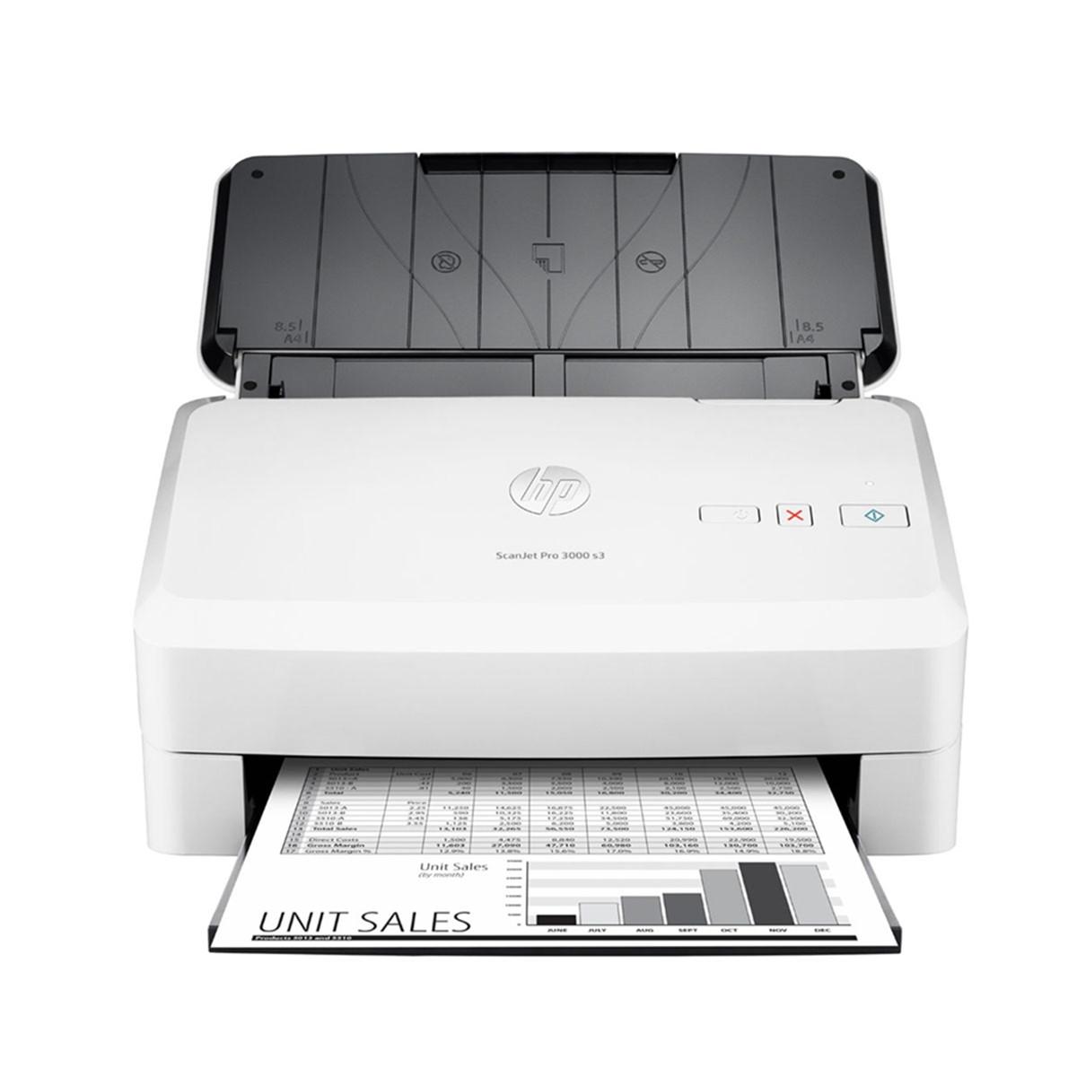 Scanner HP ScanJet Pro 3000 s3 L2753A | Conexão USB Até Tamanho Ofício ADF para 50 Folhas com Duplex