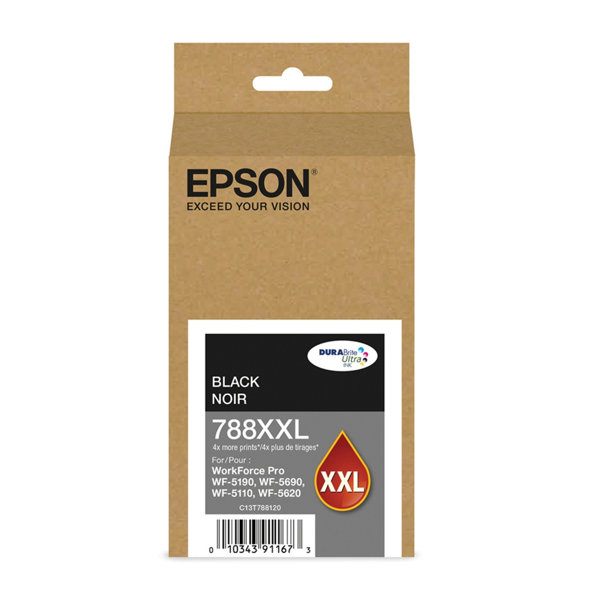 Cartucho de Tinta Epson T788XXL 120-AL Preto | WorkForce 5190 WorkForce 5690 | Original 65ml