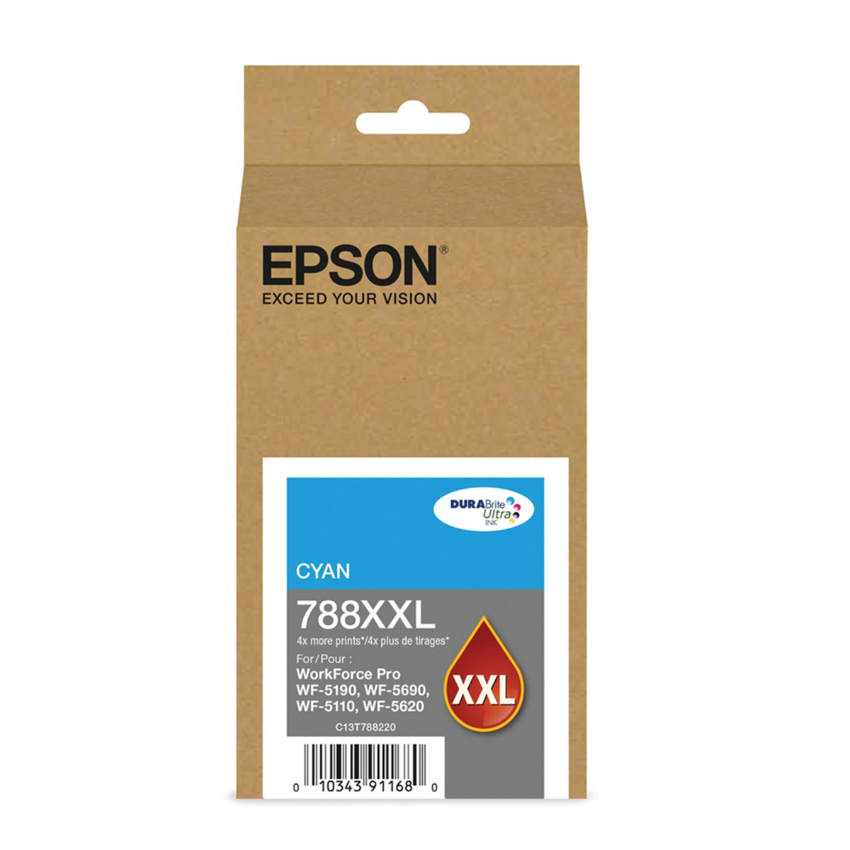Cartucho de Tinta Epson T788XXL 220-AL Ciano | WorkForce 5190 WorkForce 5690 | Original 34ml