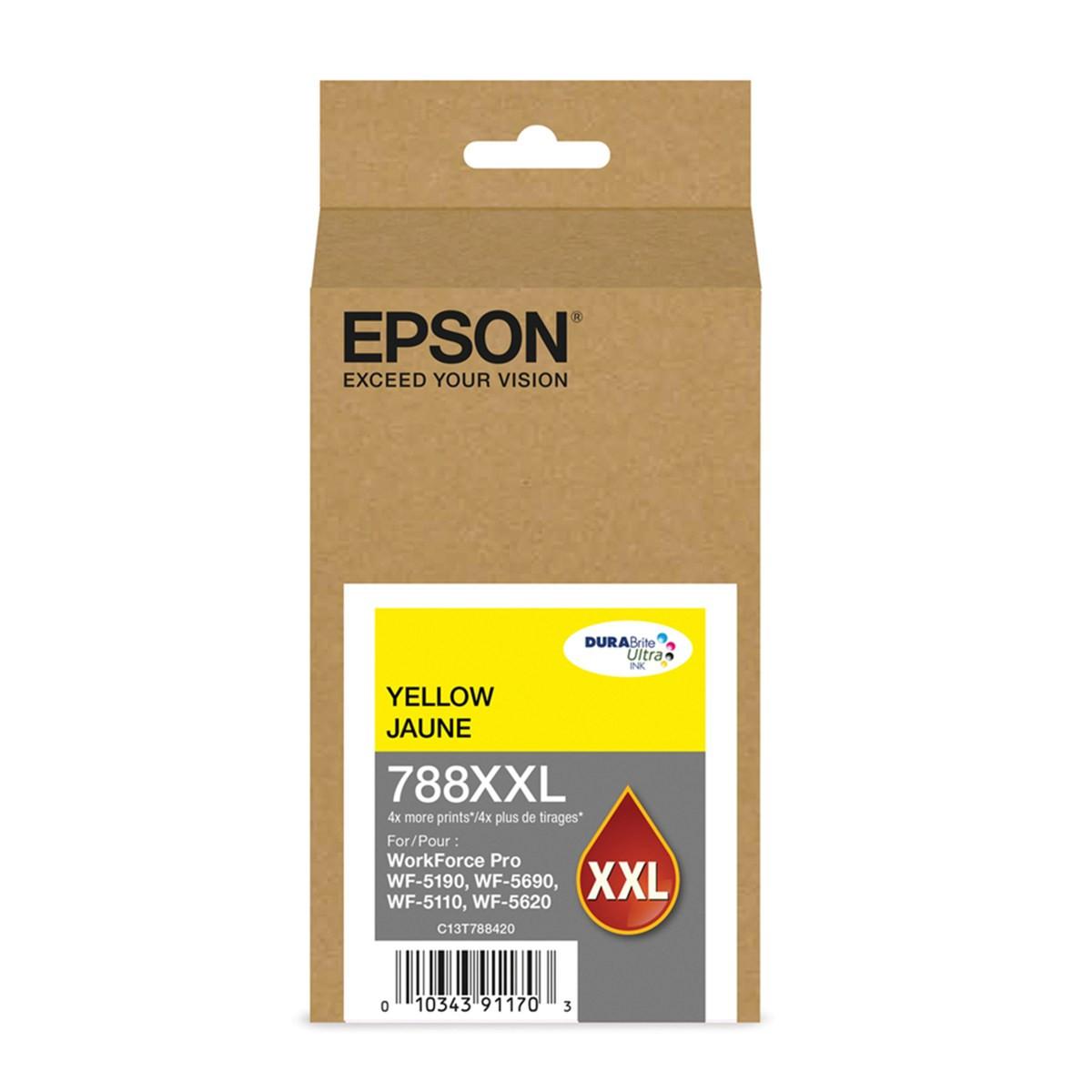 Cartucho de Tinta Epson T788XXL 420-AL Amarelo   Workforce 5190 Workforce 5690   Original 34ml