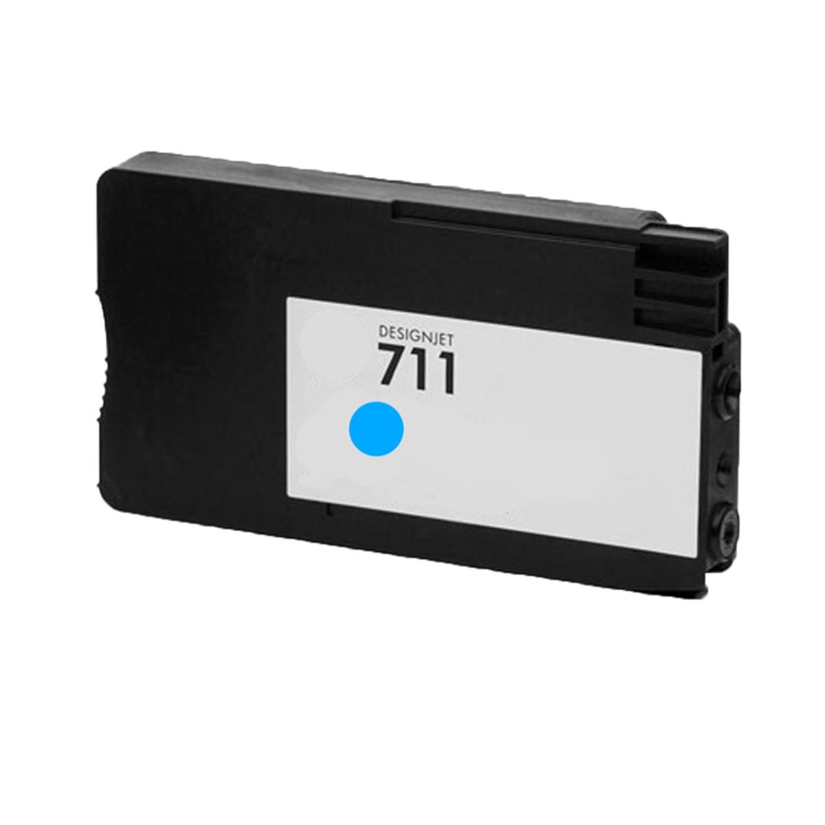 Cartucho de Tinta Compatível com HP 711 Ciano CZ130A | T520 T120 CQ890A CQ891A CQ893A | 28ml