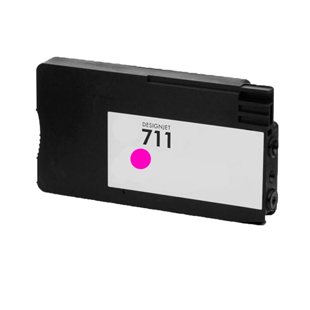 Cartucho de Tinta Compatível com HP 711 Magenta CZ131A | T520 T120 CQ890A CQ891A CQ893A | 28ml