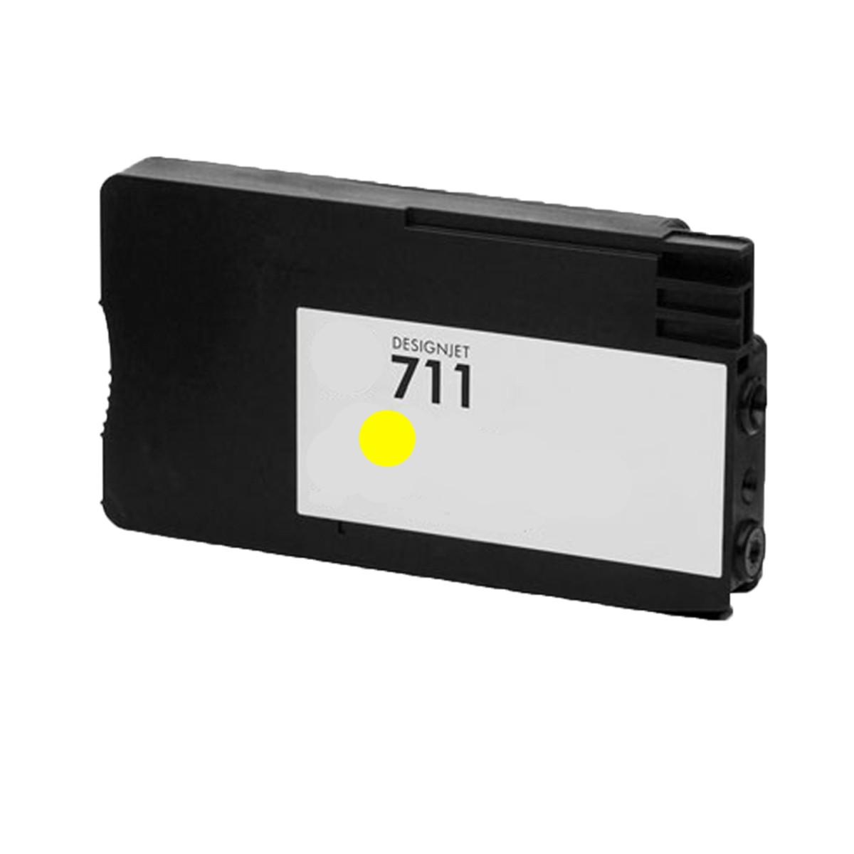 Cartucho de Tinta Compatível com HP 711 Amarelo CZ132A | T520 T120 CQ890A CQ891A CQ893A | 28ml
