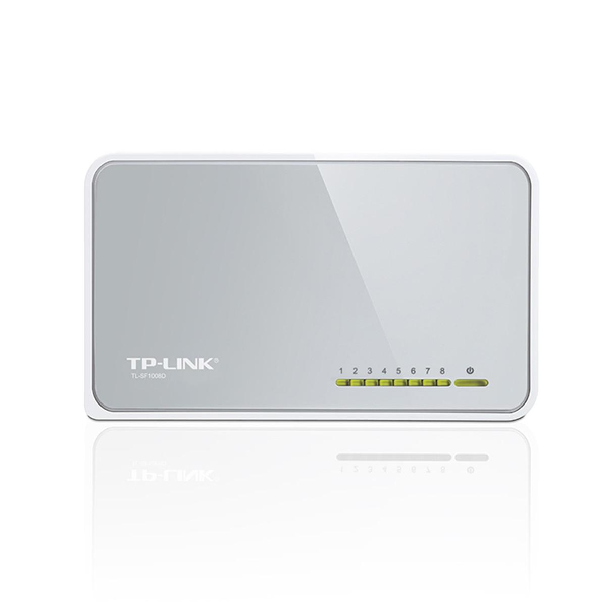 Switch TP-LINK TL-SF1008D 100Mbps com 08 Portas