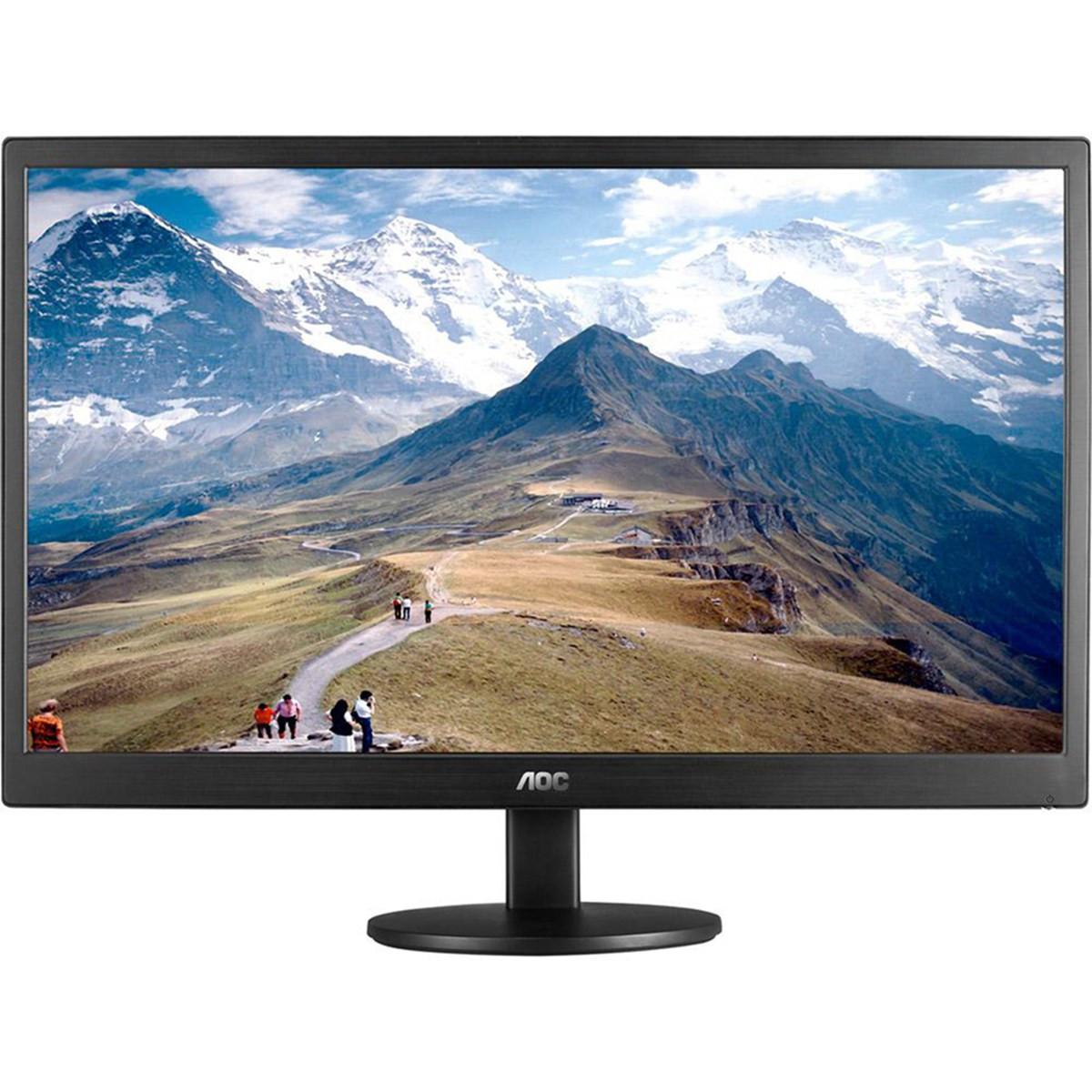 "Monitor 18,5"" LED VGA Widescreen E970SWNL 1366X768 200 CD/M² de Brilho | AOC"