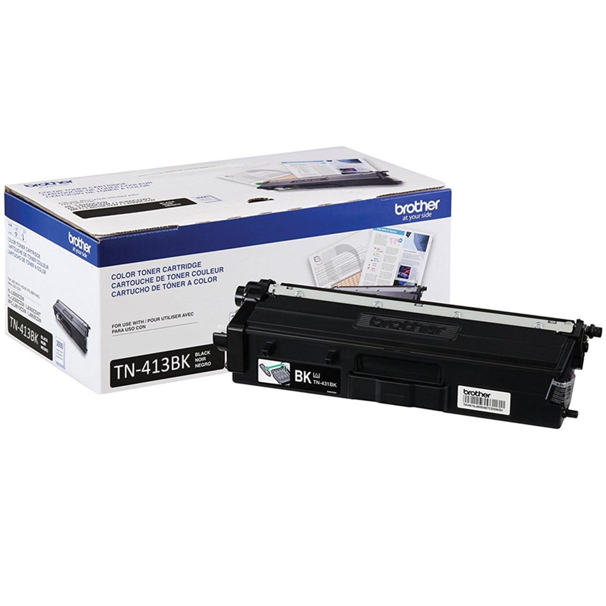 Toner Brother TN-413BK Preto   HL-L8360CDW MFC-L8610CDW MFC-L8900CDW MFC-L9570CDW   Original 4.5k