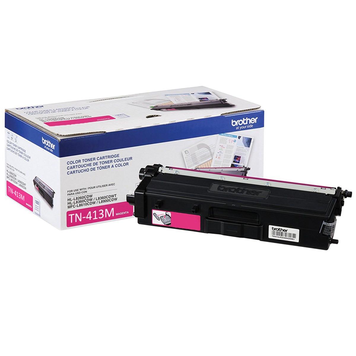 Toner Brother TN-413M Magenta   HL-L8360CDW MFC-L8610CDW MFC-L8900CDW MFC-L9570CDW   Original 4k