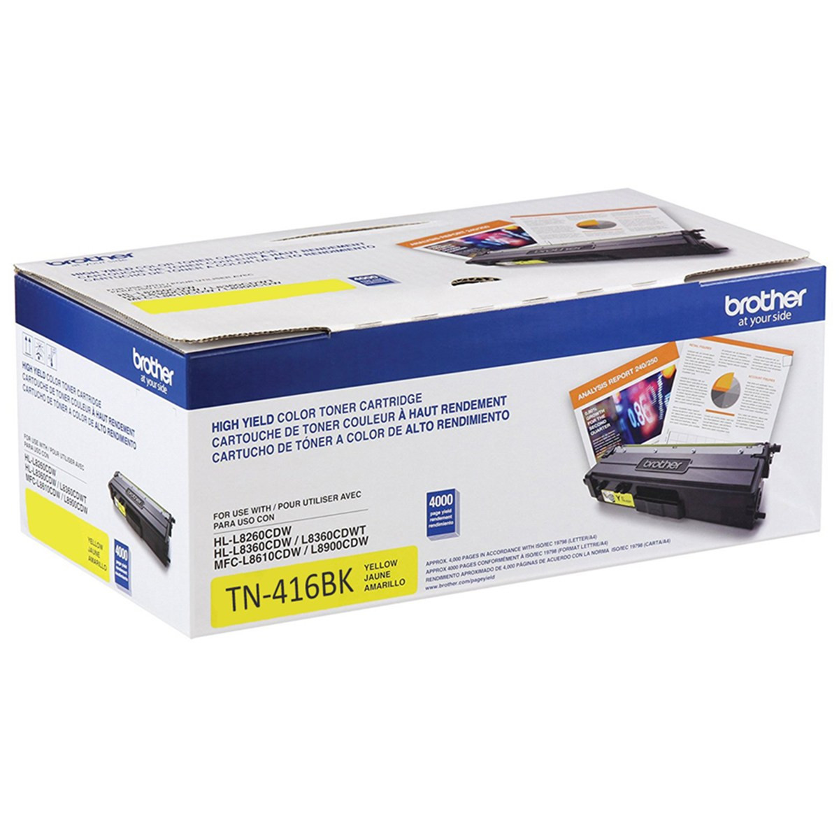 Toner Brother TN-416Y Amarelo | HL-L8360CDW MFC-L8610CDW MFC-L8900CDW MFC-L9570CDW | Original 6.5k