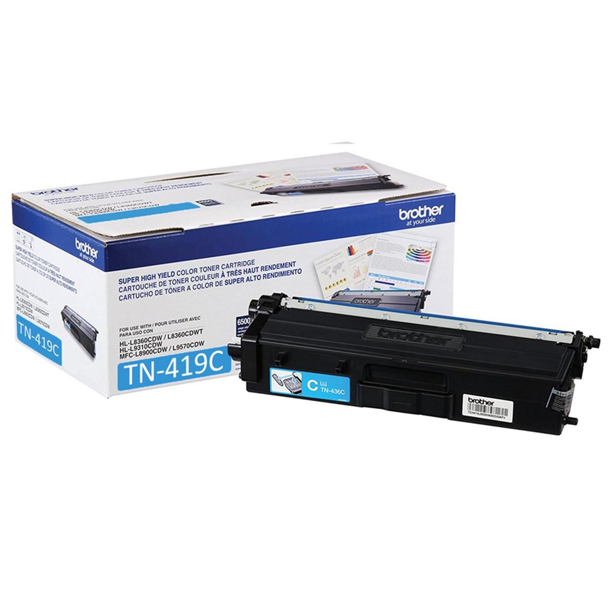 Toner Brother TN-419C Ciano   HL-L8360CDW MFC-L8610CDW MFC-L8900CDW MFC-L9570CDW   Original 9k