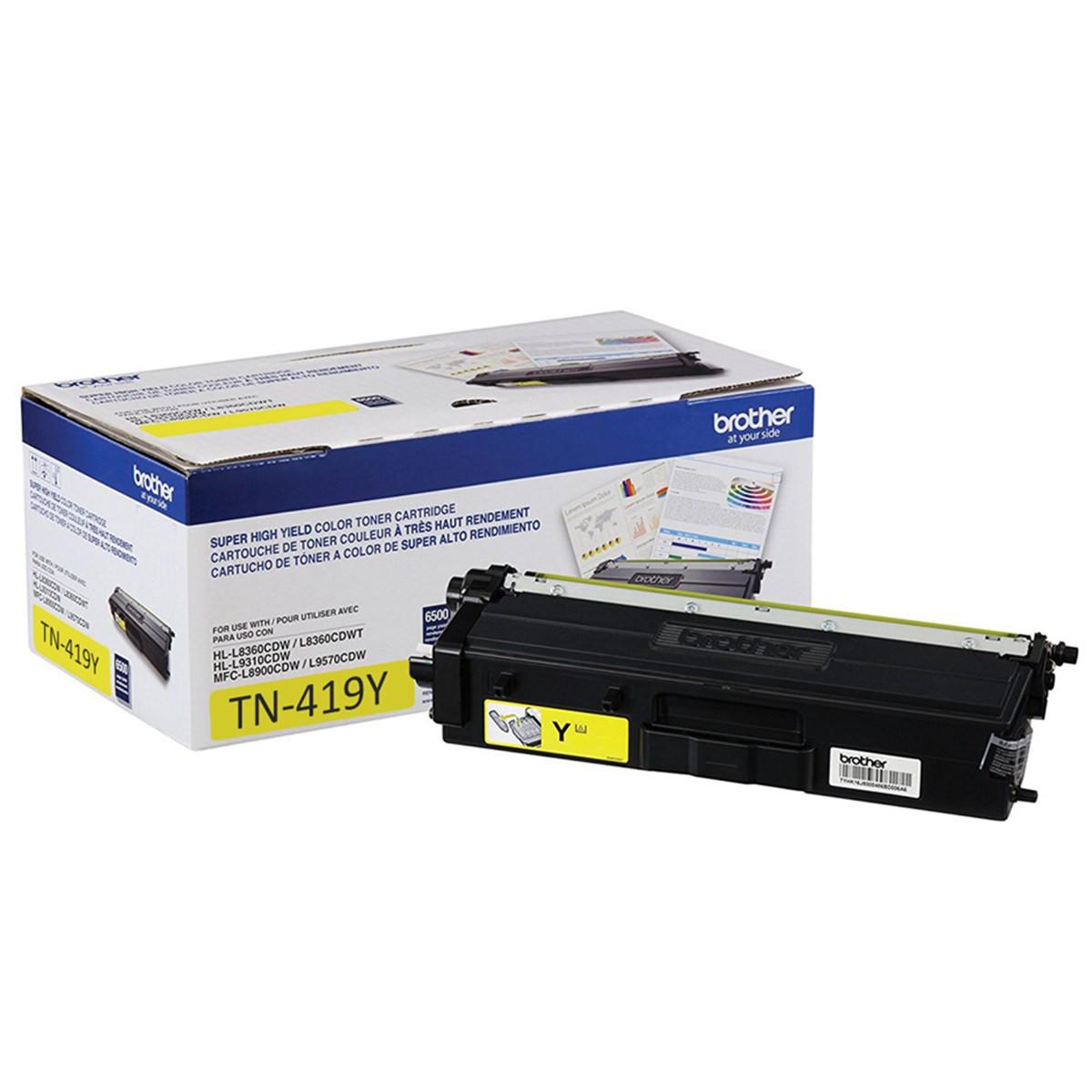 Toner Brother TN-419Y Amarelo | HL-L8360CDW MFC-L8610CDW MFC-L8900CDW MFC-L9570CDW | Original 9k