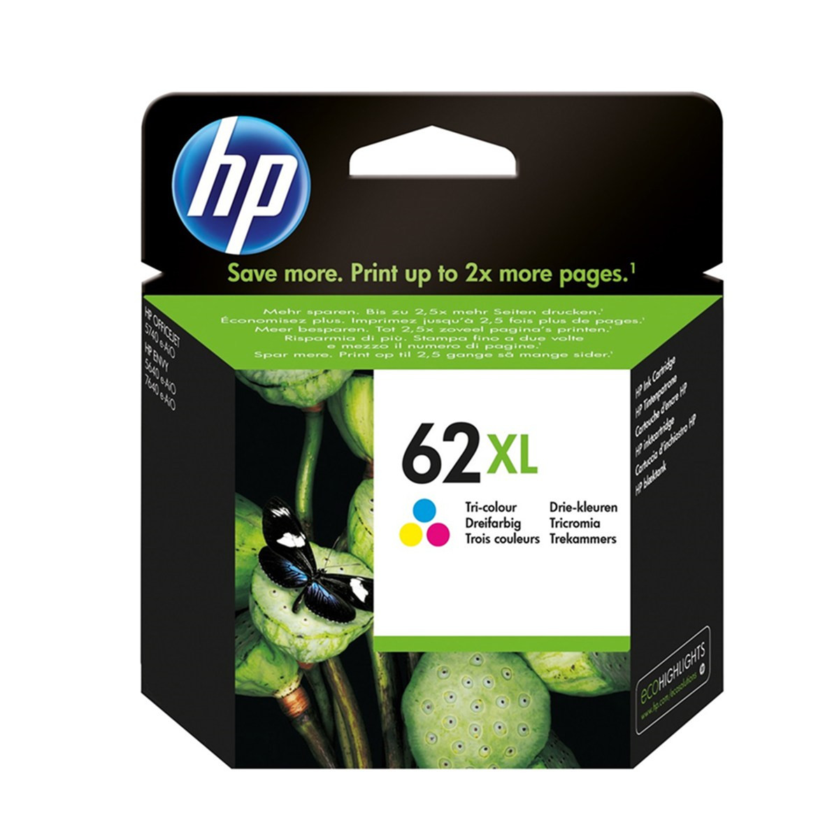 Cartucho de Tinta HP 62XL 62 Colorido C2P07AL | Original 11,5ml